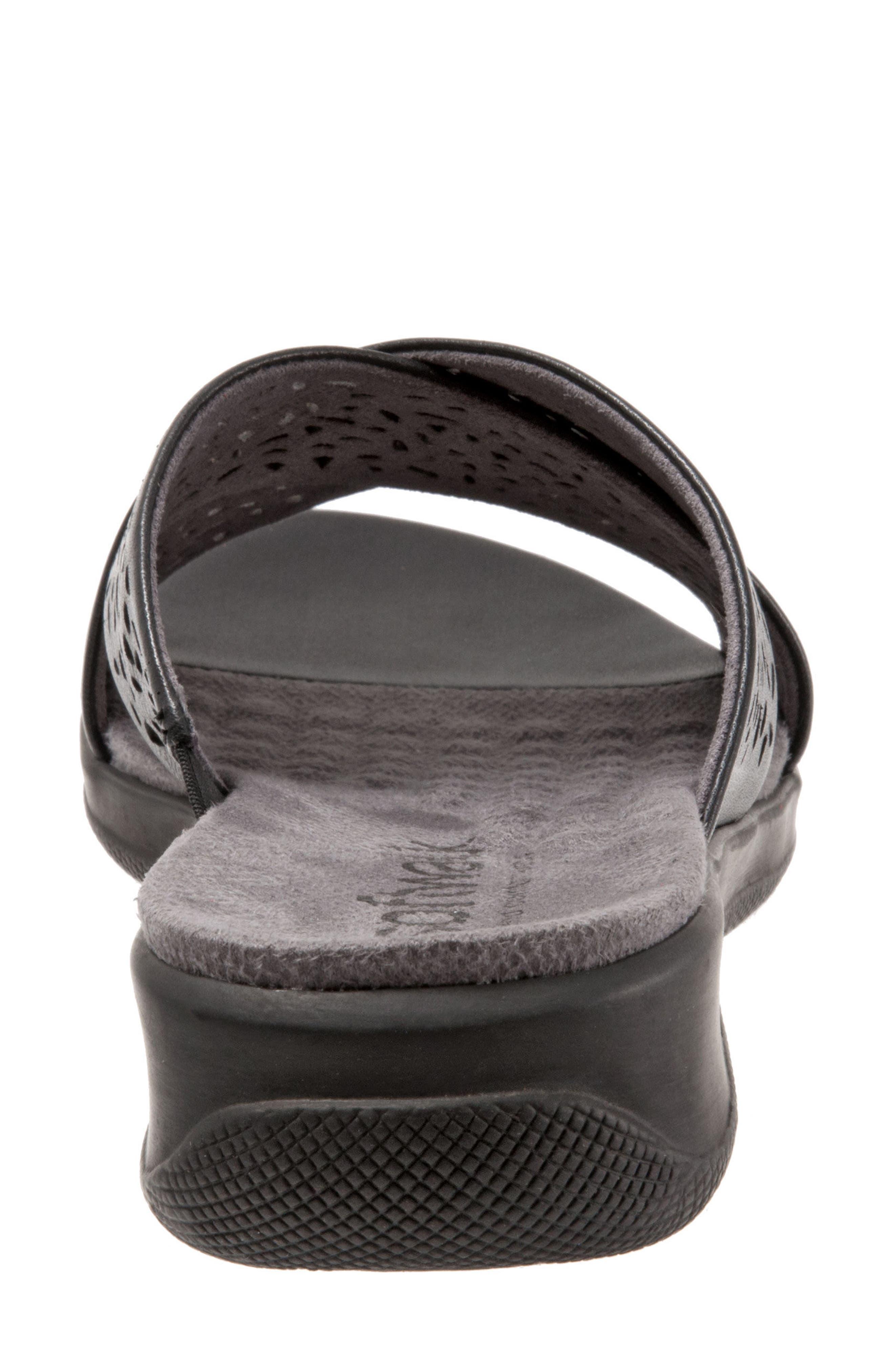 'Tillman' Leather Cross Strap Slide Sandal,                             Alternate thumbnail 7, color,                             006