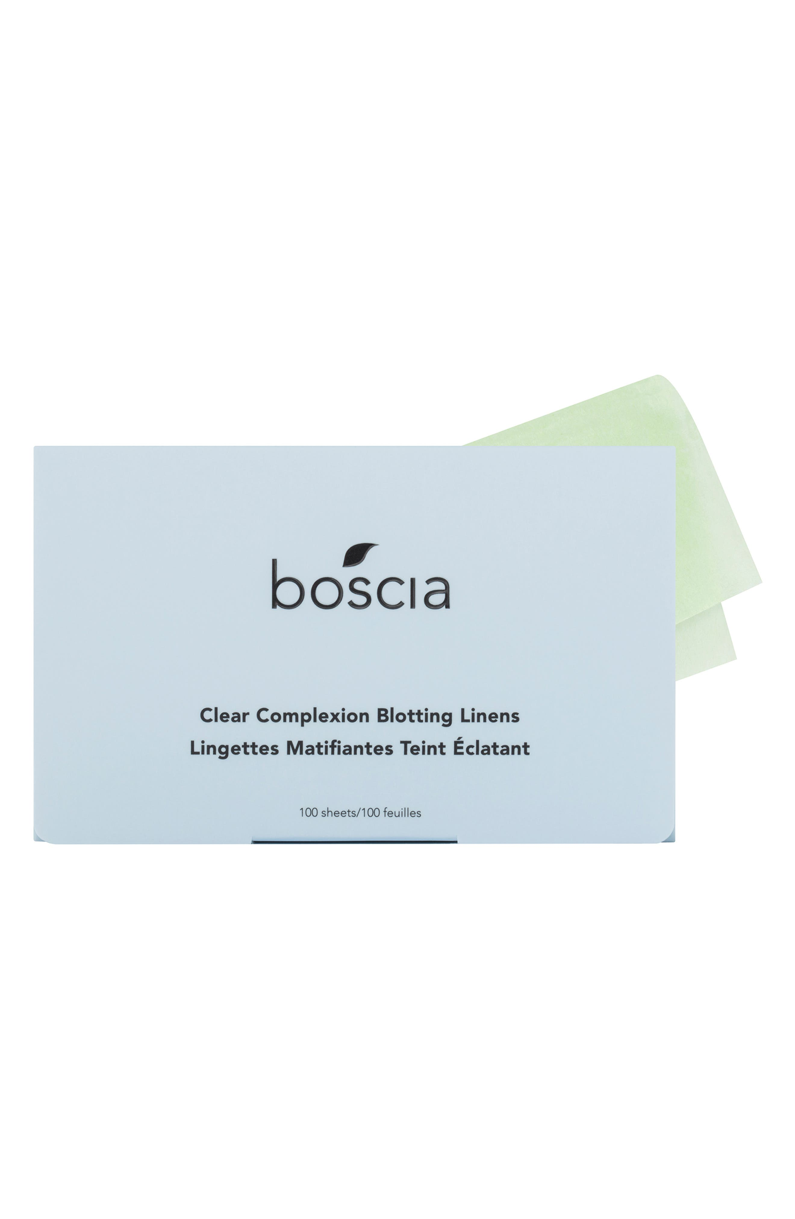 BOSCIA,                             Clear Complexion Blotting Linen,                             Main thumbnail 1, color,                             NO COLOR