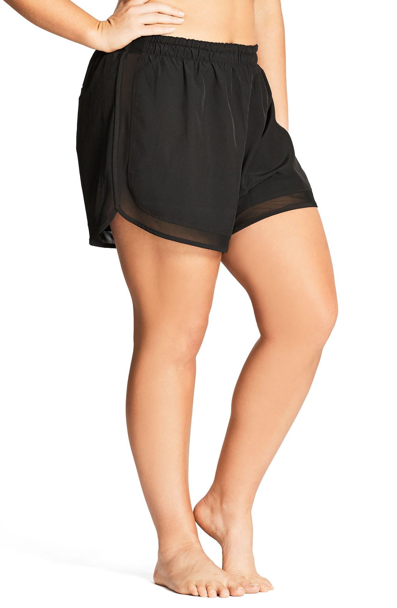 Mesh Boardie Shorts,                             Alternate thumbnail 3, color,                             BLACK