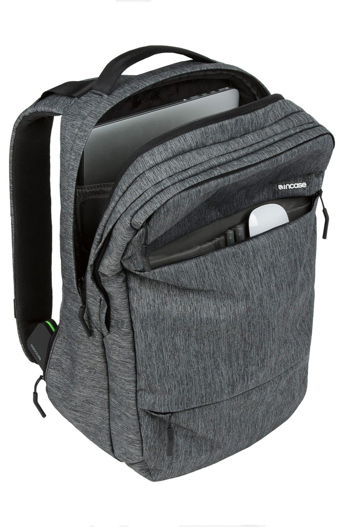 City Collection Backpack,                             Alternate thumbnail 3, color,                             HEATHER BLACK/ GUNMETAL GREY
