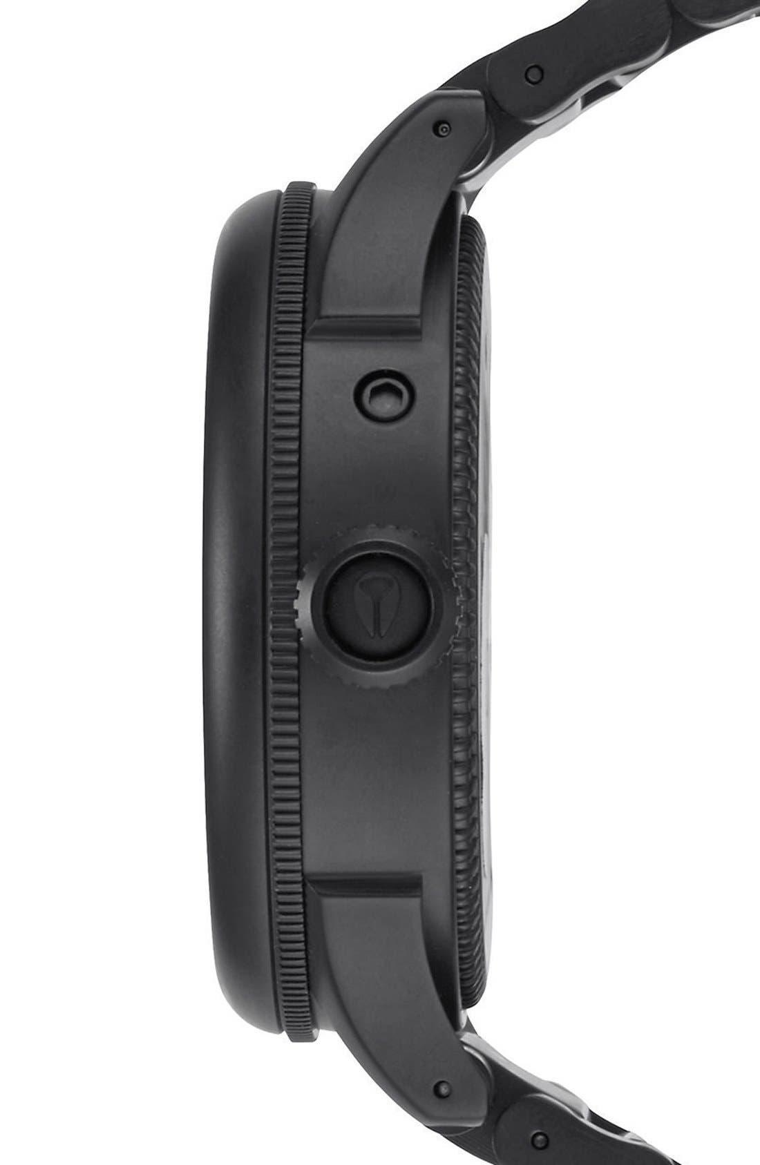 NIXON,                             'The October Tide' Multifunction Bracelet Watch, 49mm,                             Alternate thumbnail 3, color,                             001