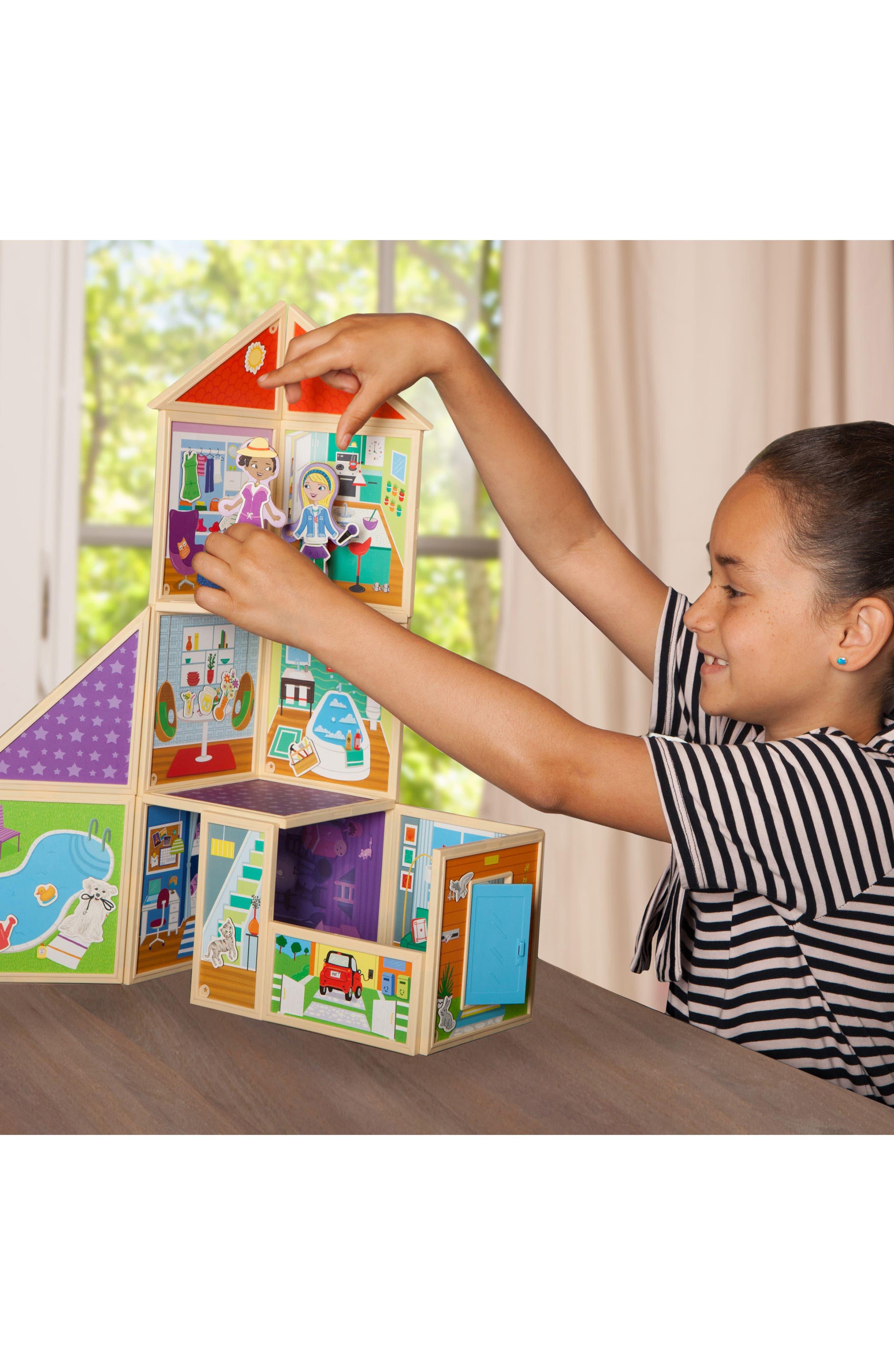 Build and Imagine Malia's House 61-Piece Magnetic Dollhouse,                             Alternate thumbnail 5, color,                             400