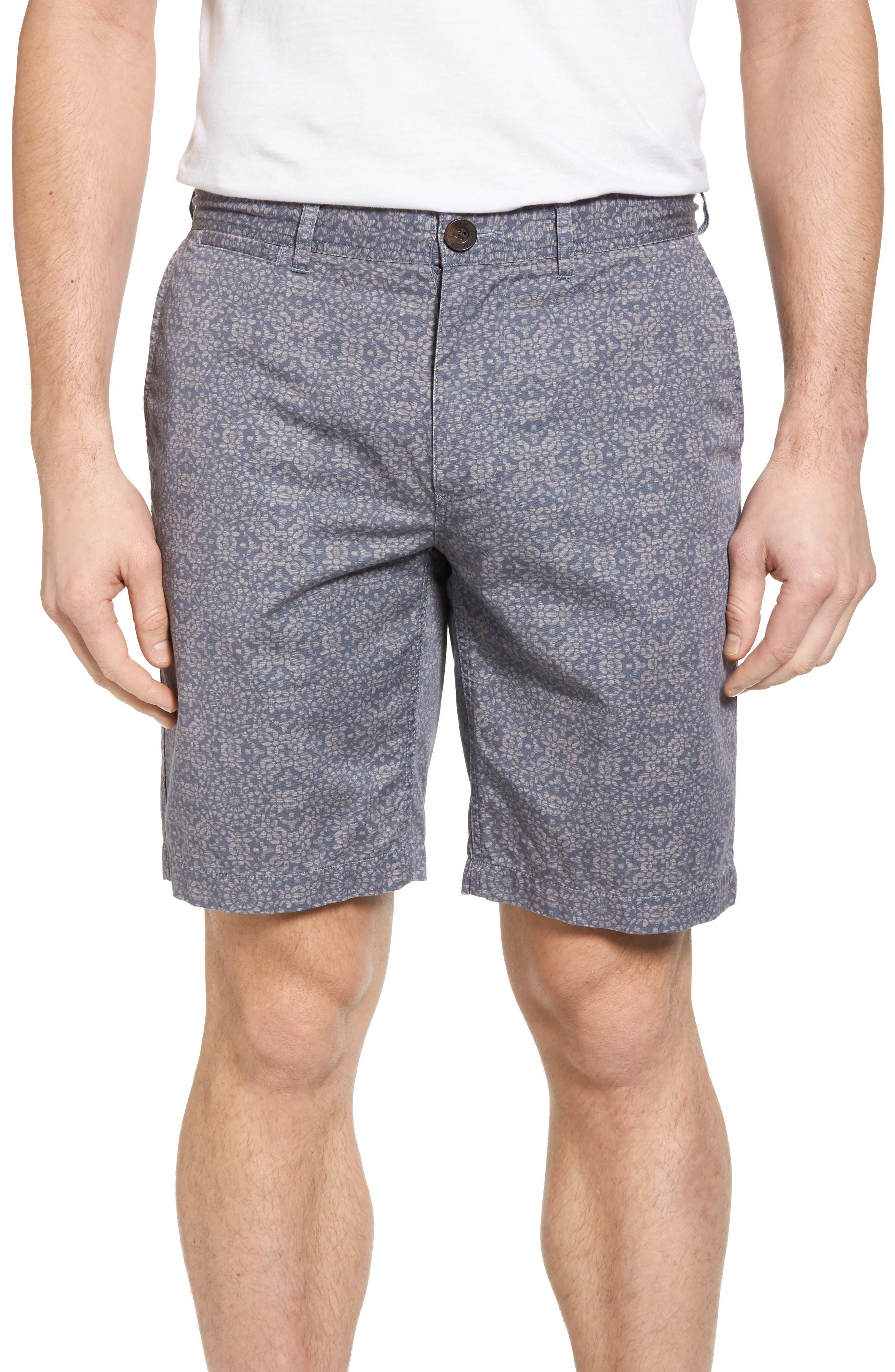 Flat Front Mandala Print Shorts,                         Main,                         color, 070