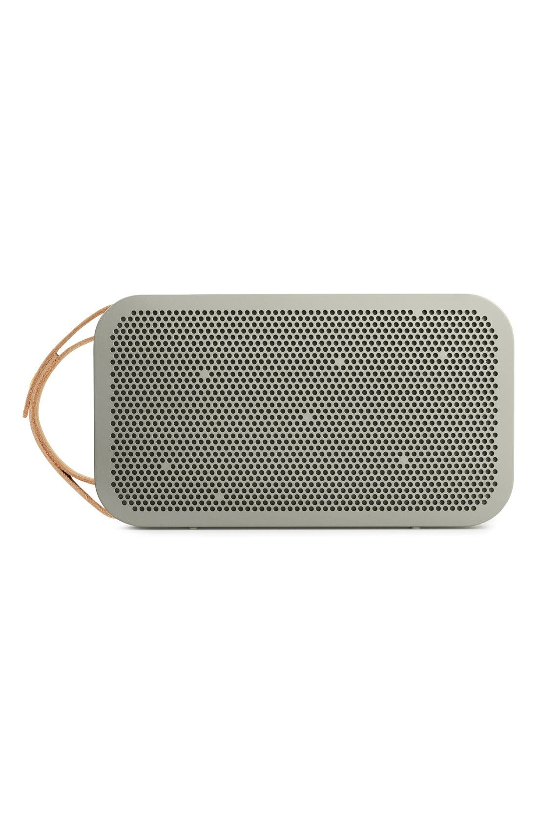 'A2' Portable Bluetooth<sup>®</sup> Speaker,                             Main thumbnail 1, color,                             GREY