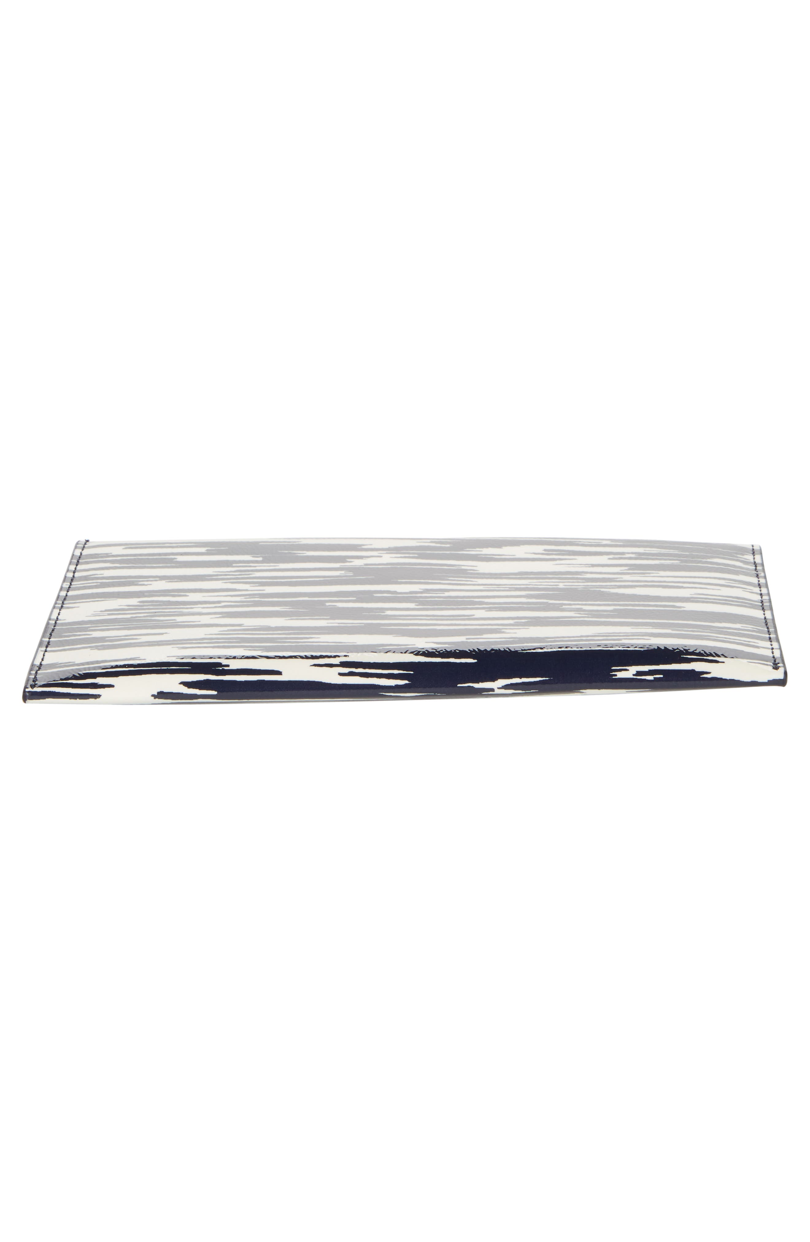 Leather Envelope Clutch,                             Alternate thumbnail 6, color,                             NAVY SPACE DYE