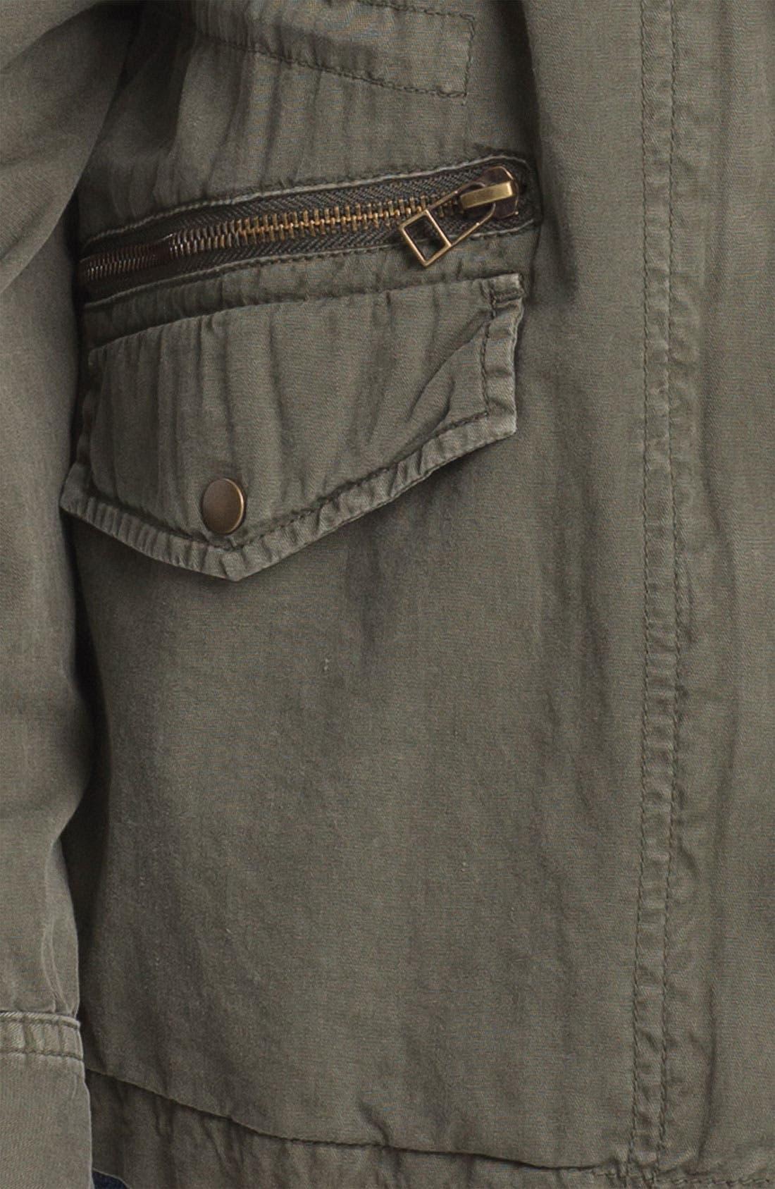 Lily Aldridge for Velvet by Graham & Spencer Army Jacket,                             Alternate thumbnail 9, color,                             FOREST GREEN