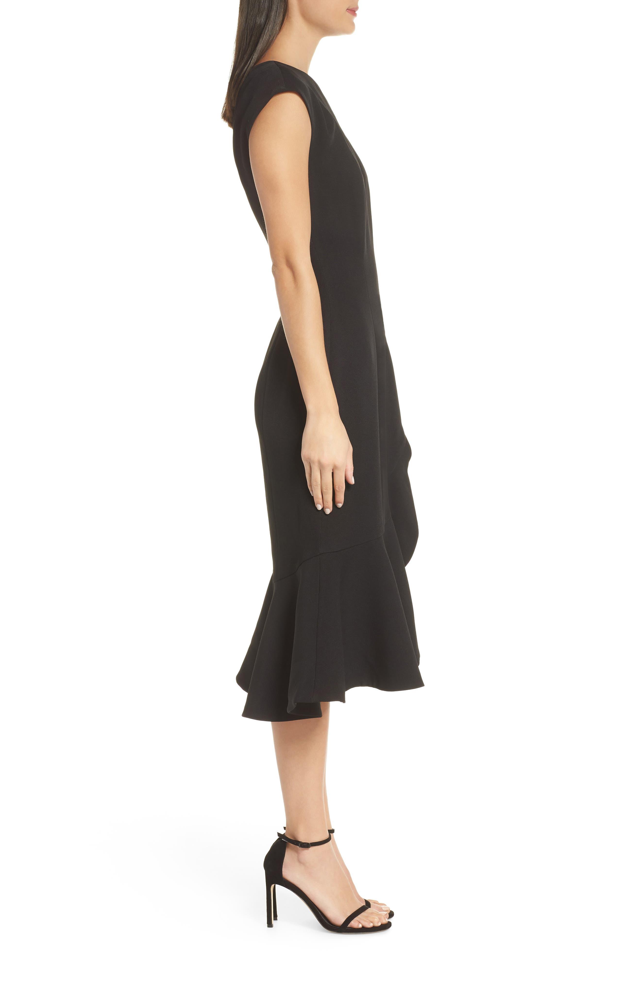 KEEPSAKE THE LABEL,                             Mirrors One-Shoulder Asymmetrical Dress,                             Alternate thumbnail 4, color,                             001
