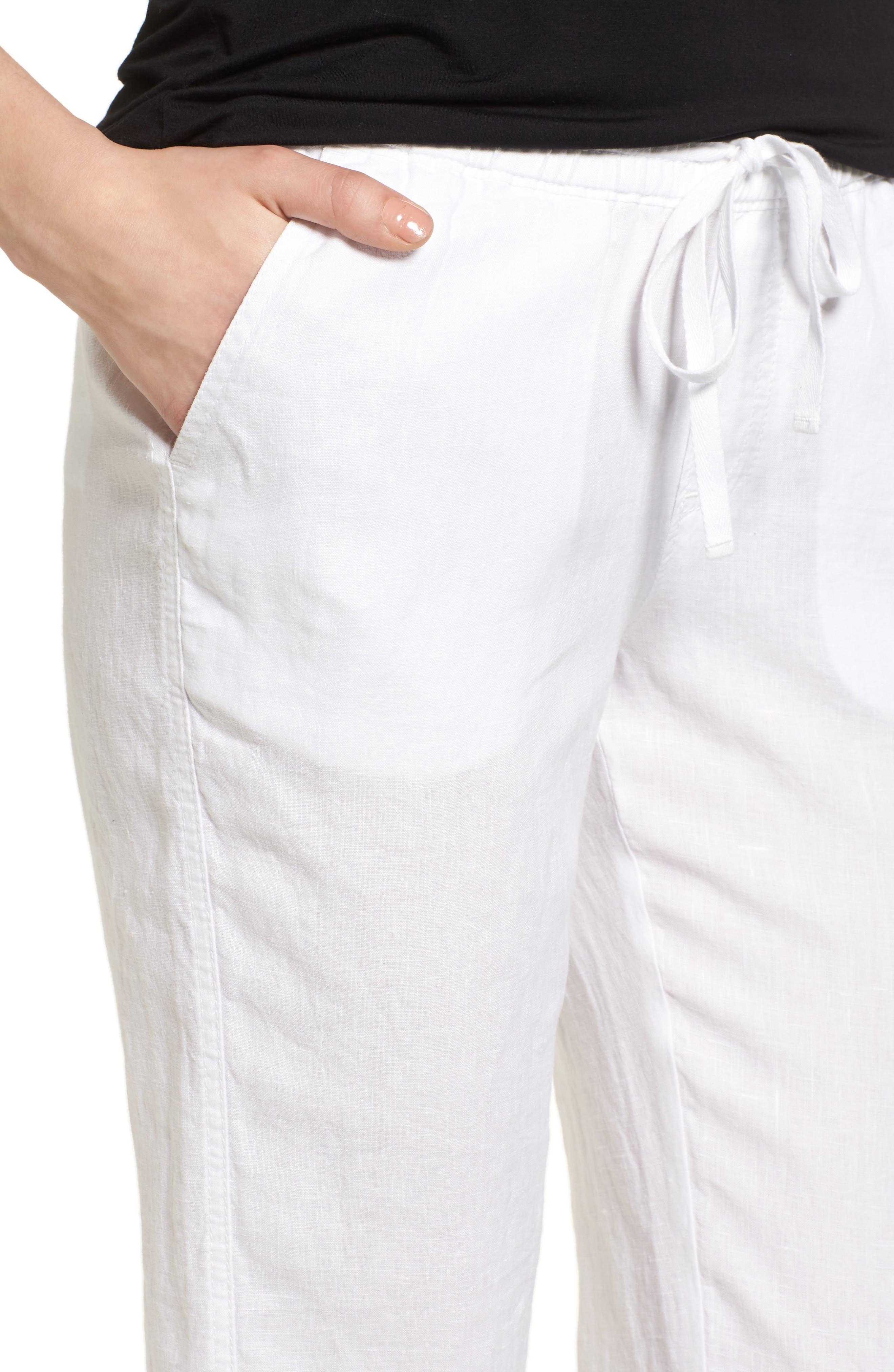 Linen Crop Pants,                             Alternate thumbnail 24, color,