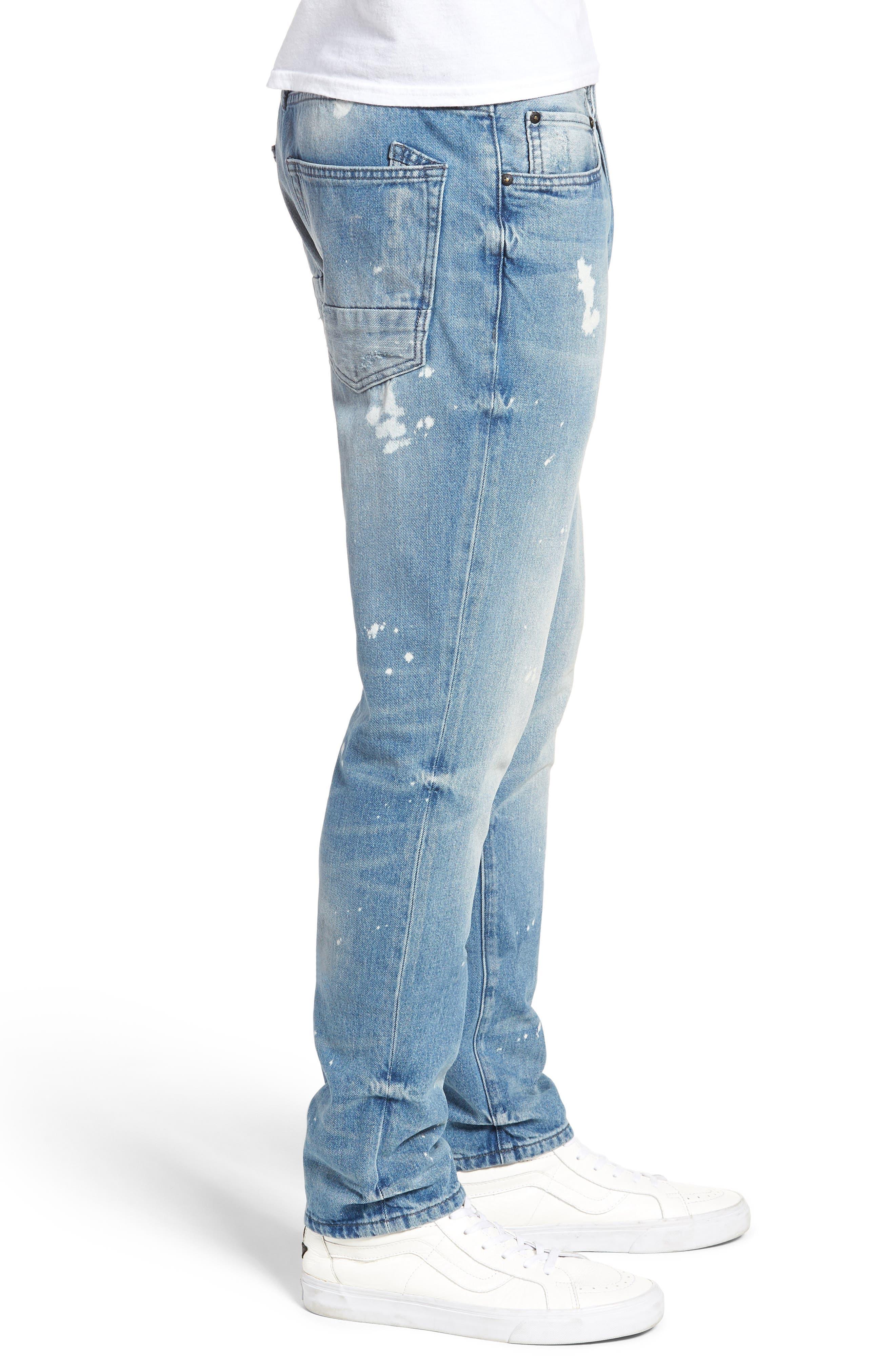 PRPS,                             Le Sabre Slim Fit Jeans,                             Alternate thumbnail 3, color,                             TAWDRY