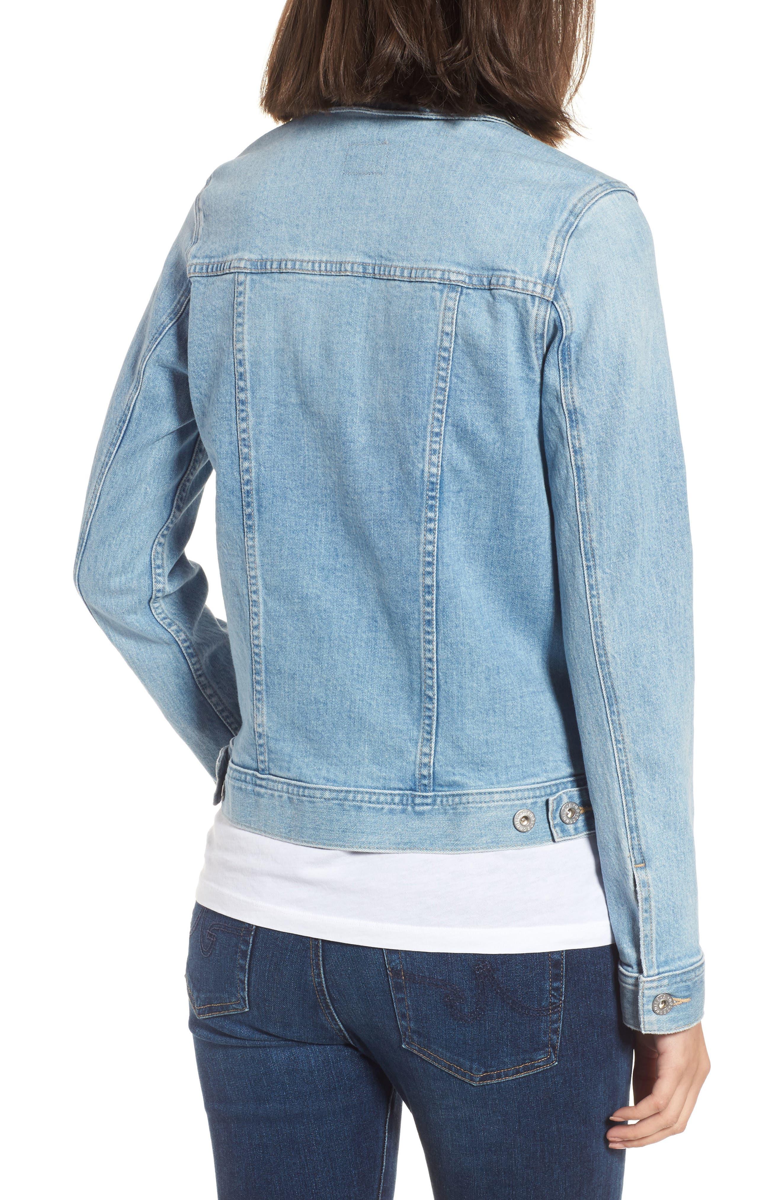 Mya Denim Jacket,                             Alternate thumbnail 2, color,                             SUNLIGHT BLUE