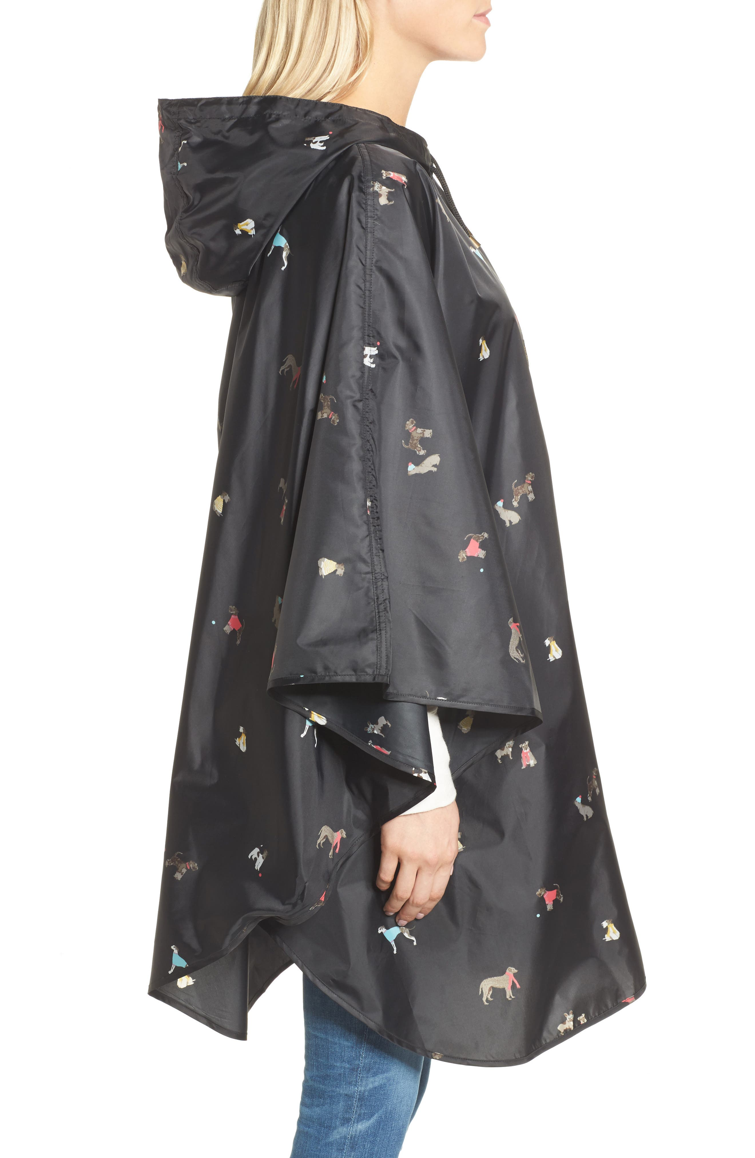 Right as Rain Print Packable Hooded Poncho,                             Alternate thumbnail 3, color,                             015