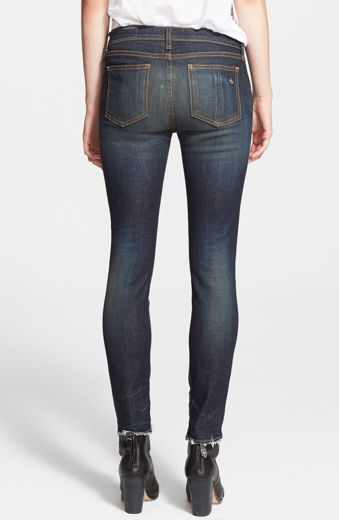 JEAN 'The Crop' Skinny Jeans,                             Alternate thumbnail 2, color,                             401