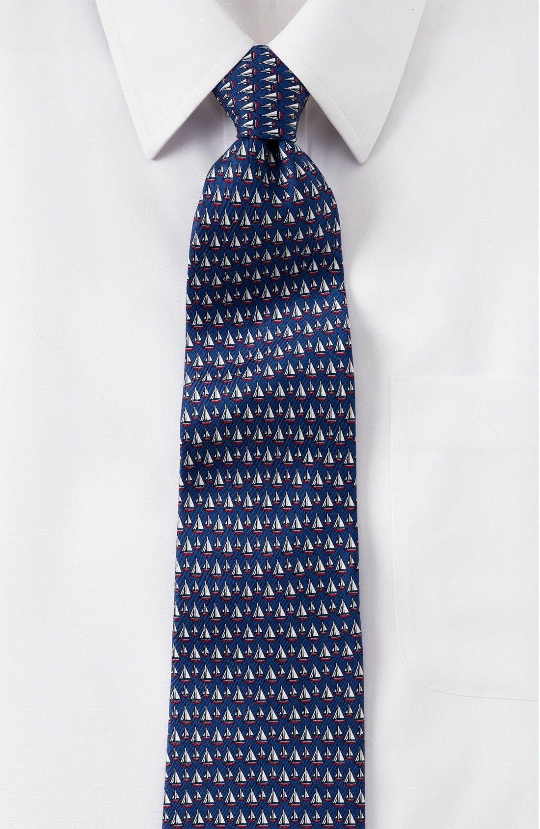 Print Silk Tie,                             Alternate thumbnail 6, color,