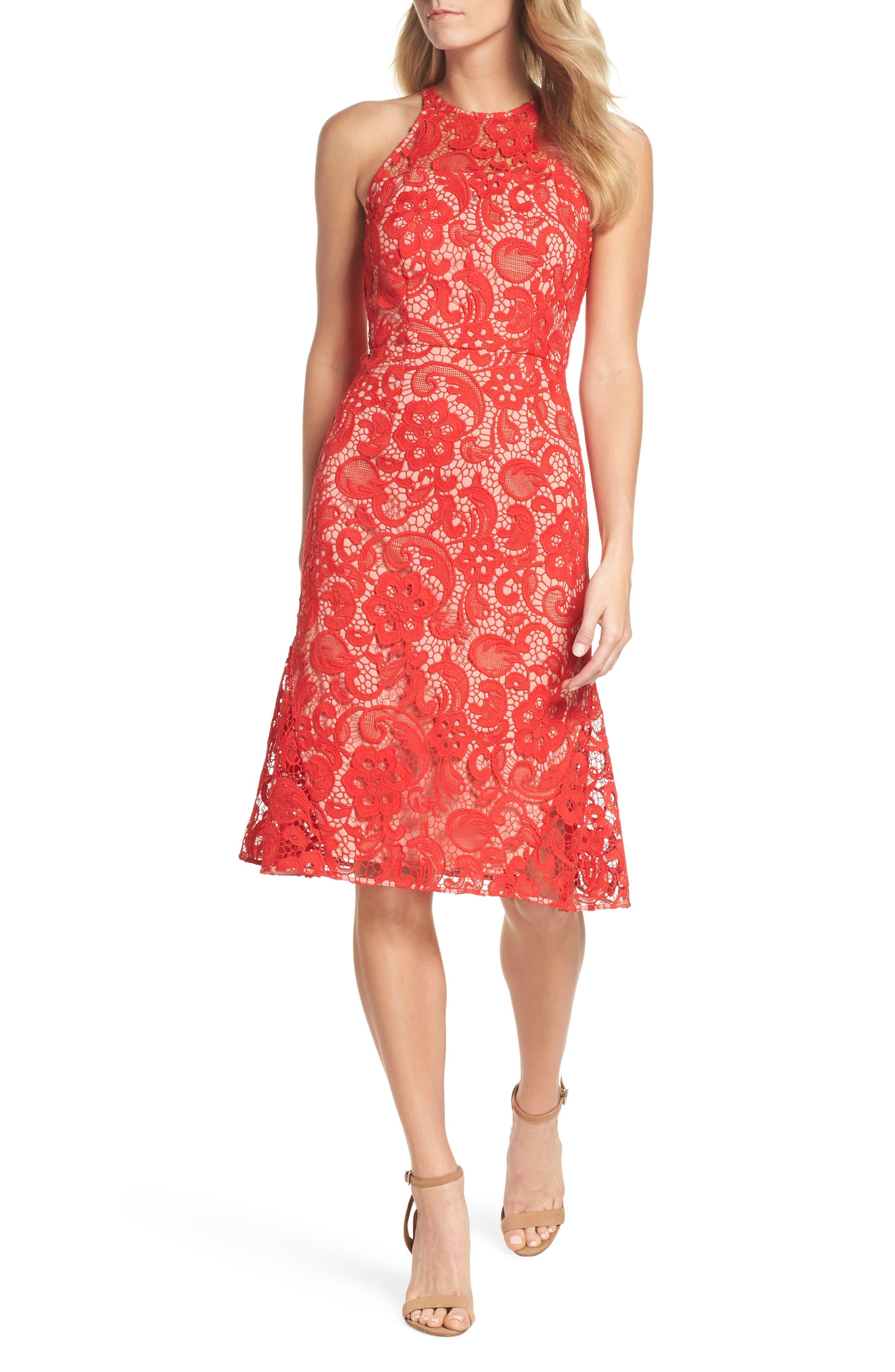 Carnation Lace Dress,                         Main,                         color, 600