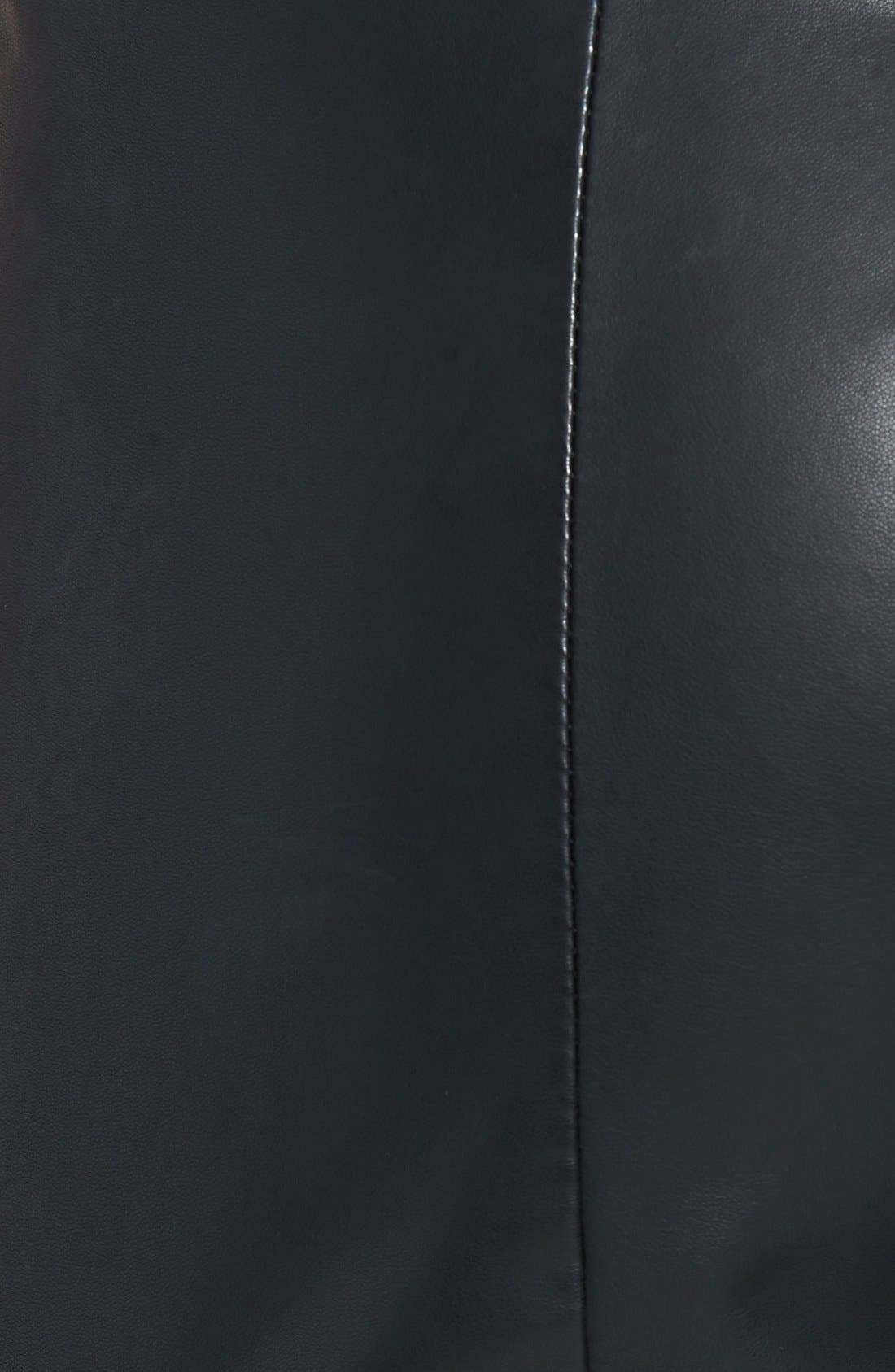 'Liliana' Faux Leather Leggings,                             Alternate thumbnail 4, color,                             001