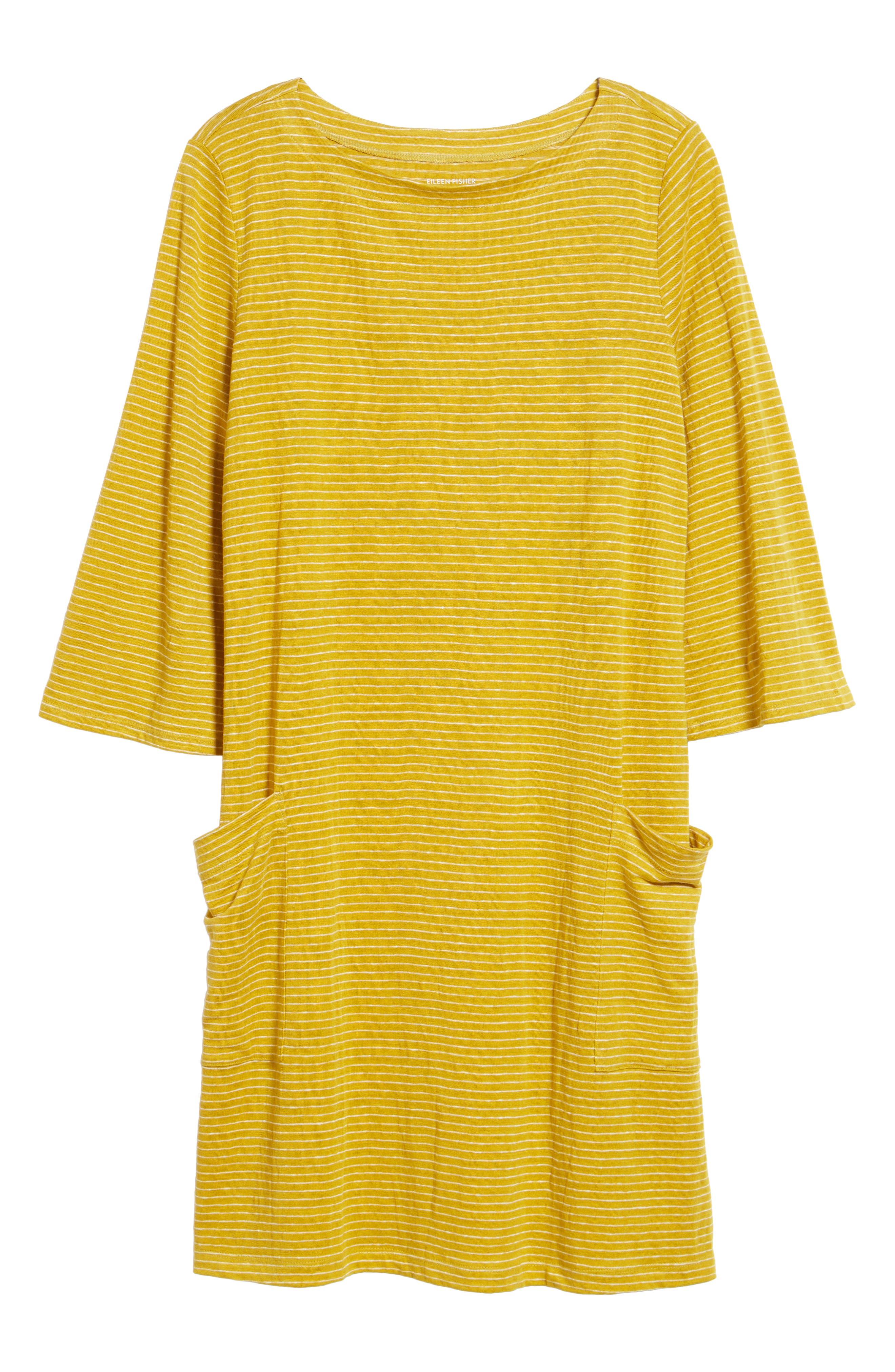 Organic Linen Shift Dress,                             Alternate thumbnail 18, color,