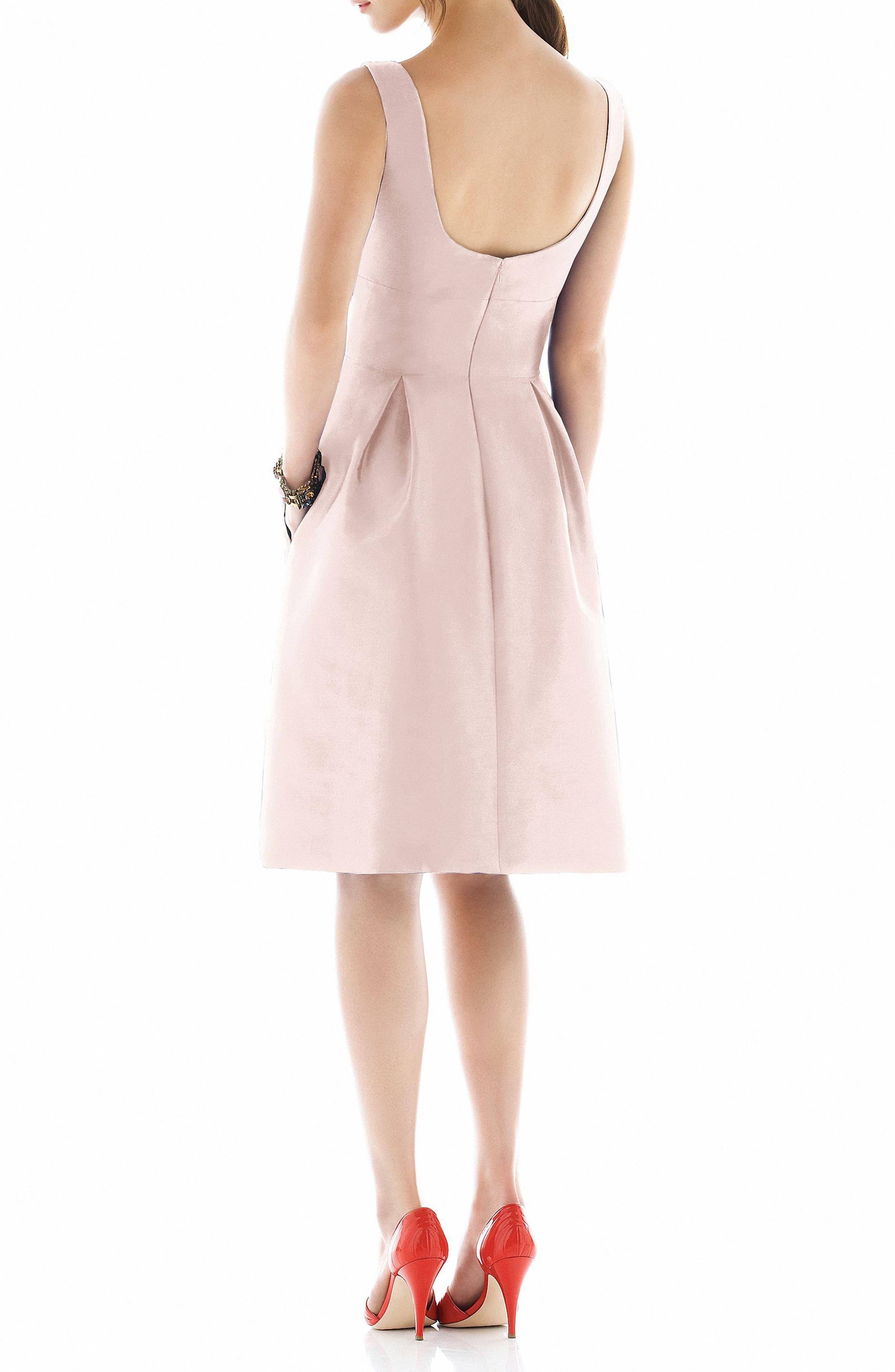 Dupioni Fit & Flare Dress,                             Alternate thumbnail 14, color,