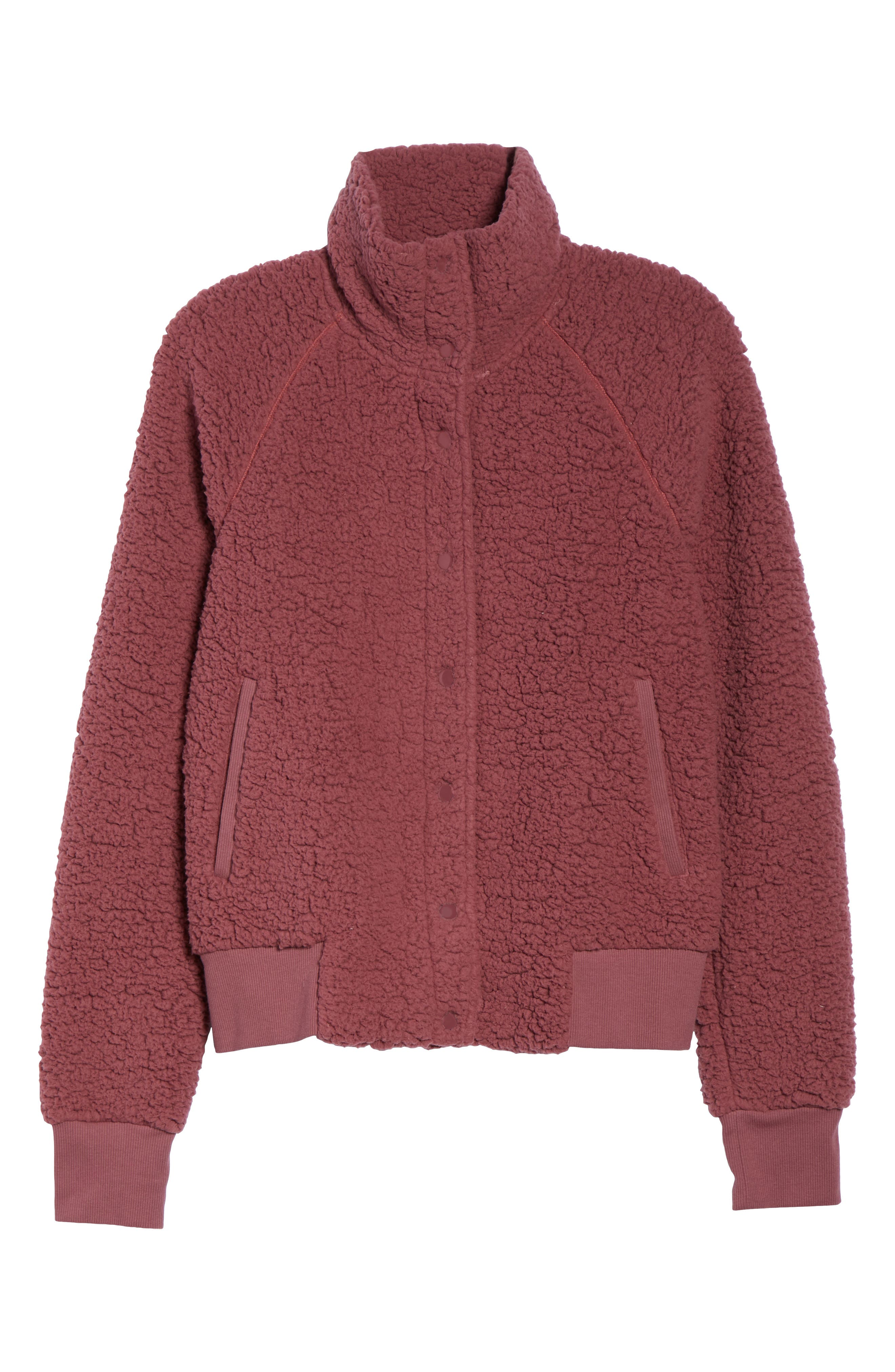 Cozy Up Bomber Jacket,                             Alternate thumbnail 6, color,                             938