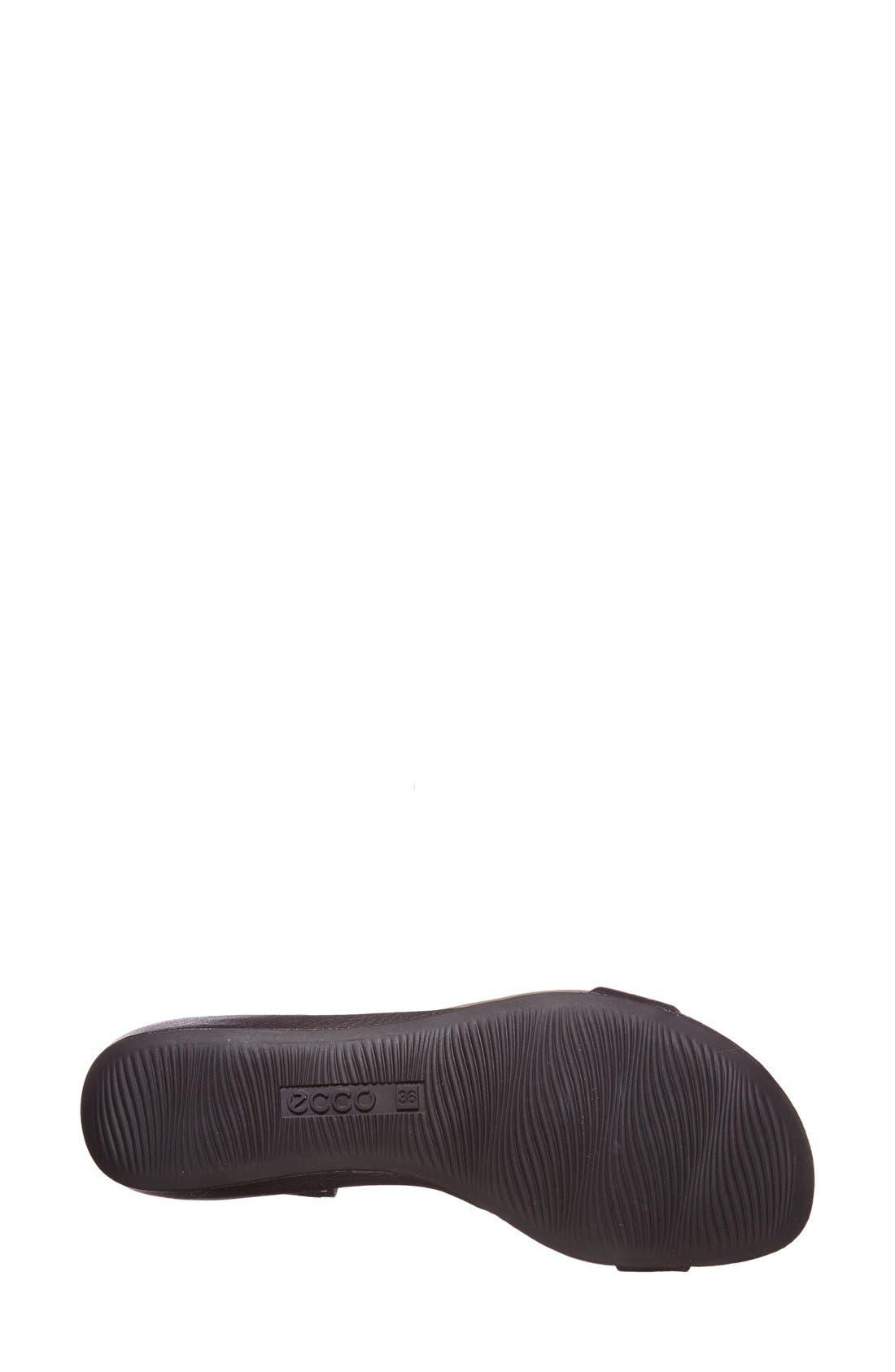 ECCO,                             'Bouillon' Leather Sandal,                             Alternate thumbnail 4, color,                             001
