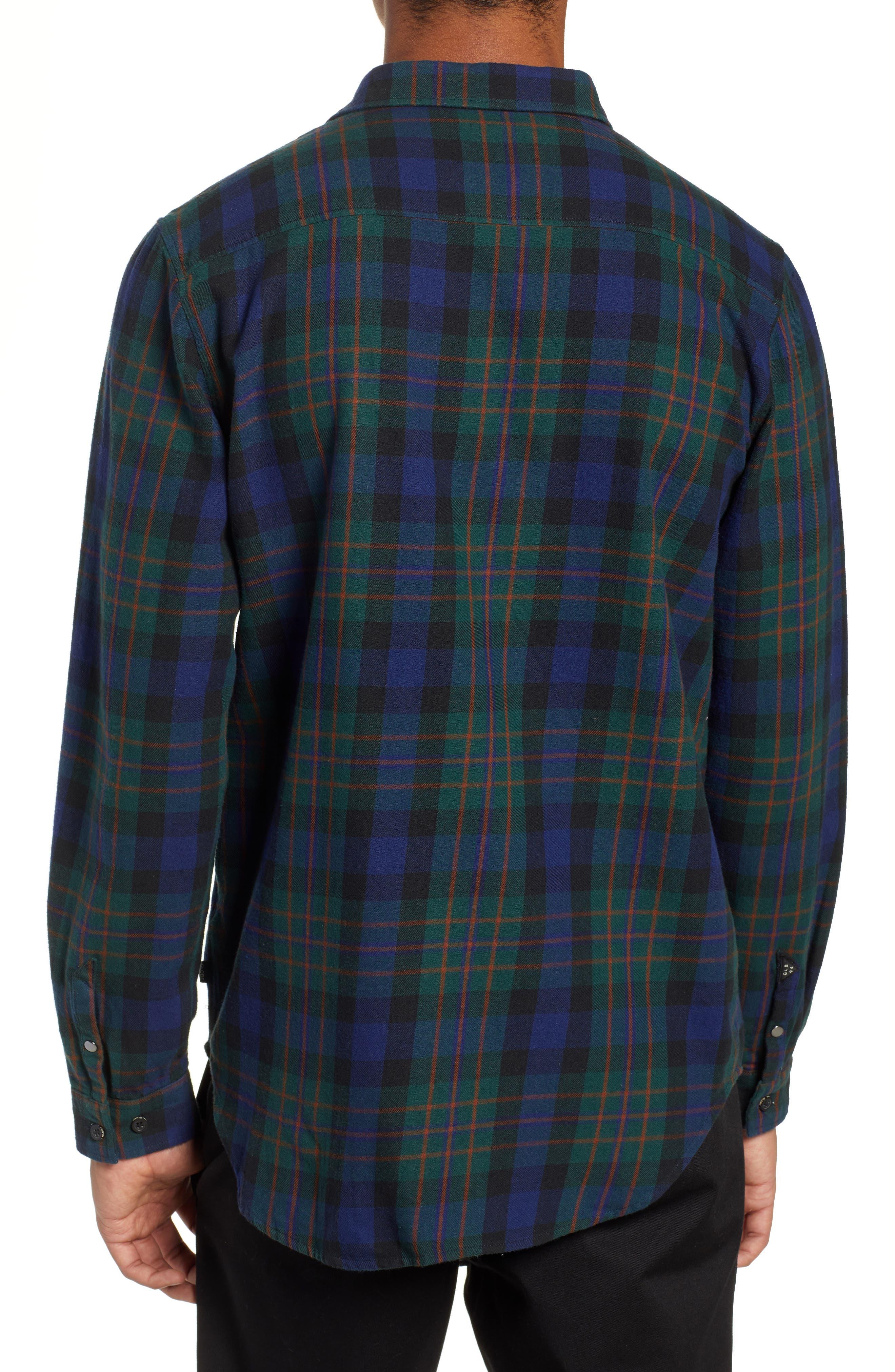 Flanigan Woven Shirt,                             Alternate thumbnail 2, color,                             BOTTLE GREEN