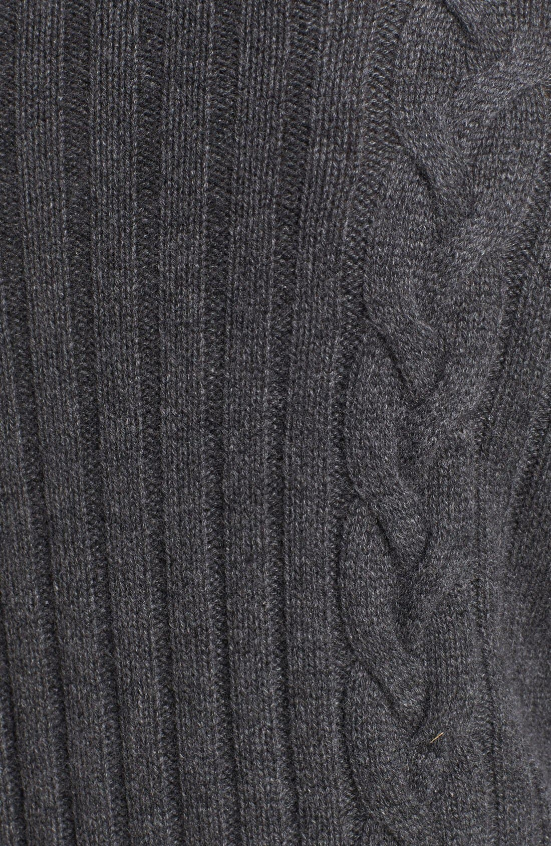 Chunky Cable Cashmere Cardigan,                             Alternate thumbnail 3, color,                             020