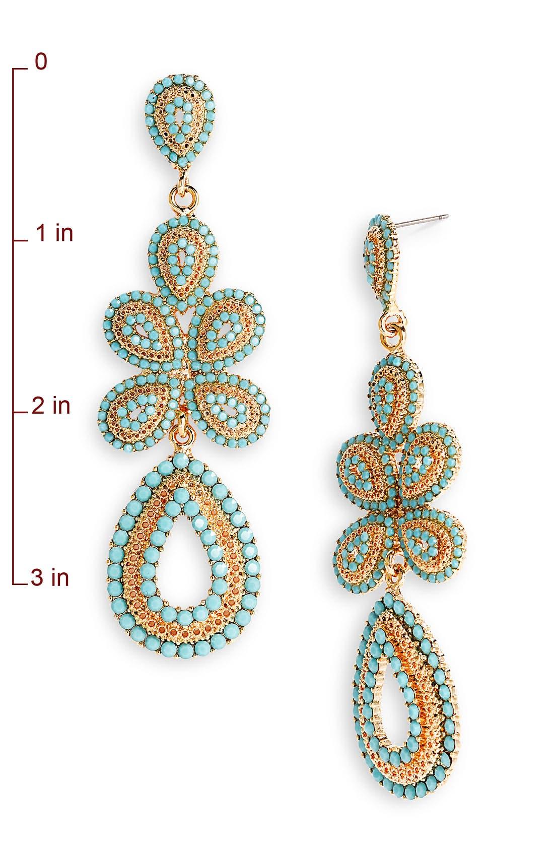 'Ornate' Linear Statement Earrings,                             Alternate thumbnail 25, color,