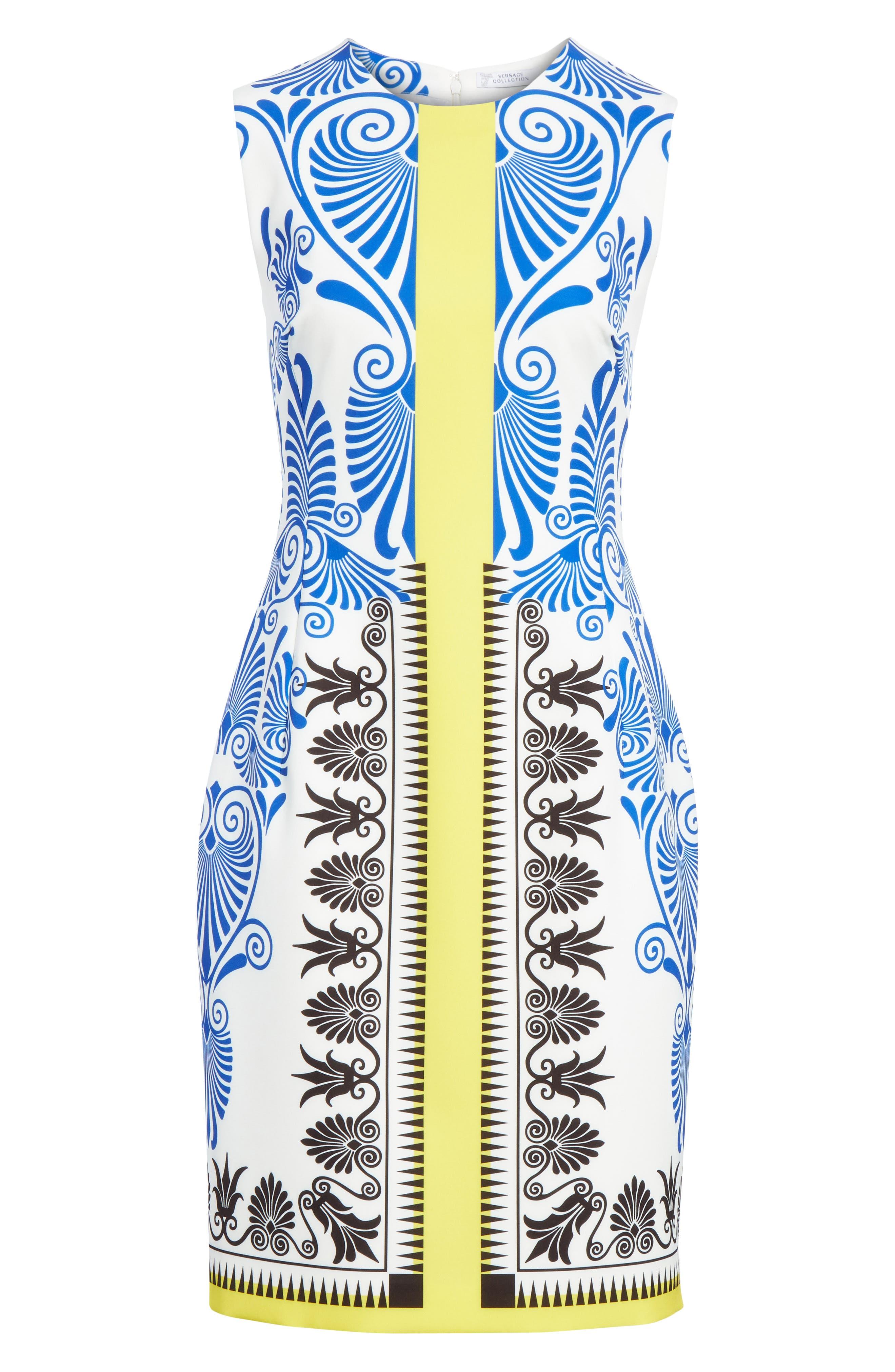 Eros Stretch Cady Sheath Dress,                             Alternate thumbnail 7, color,                             112