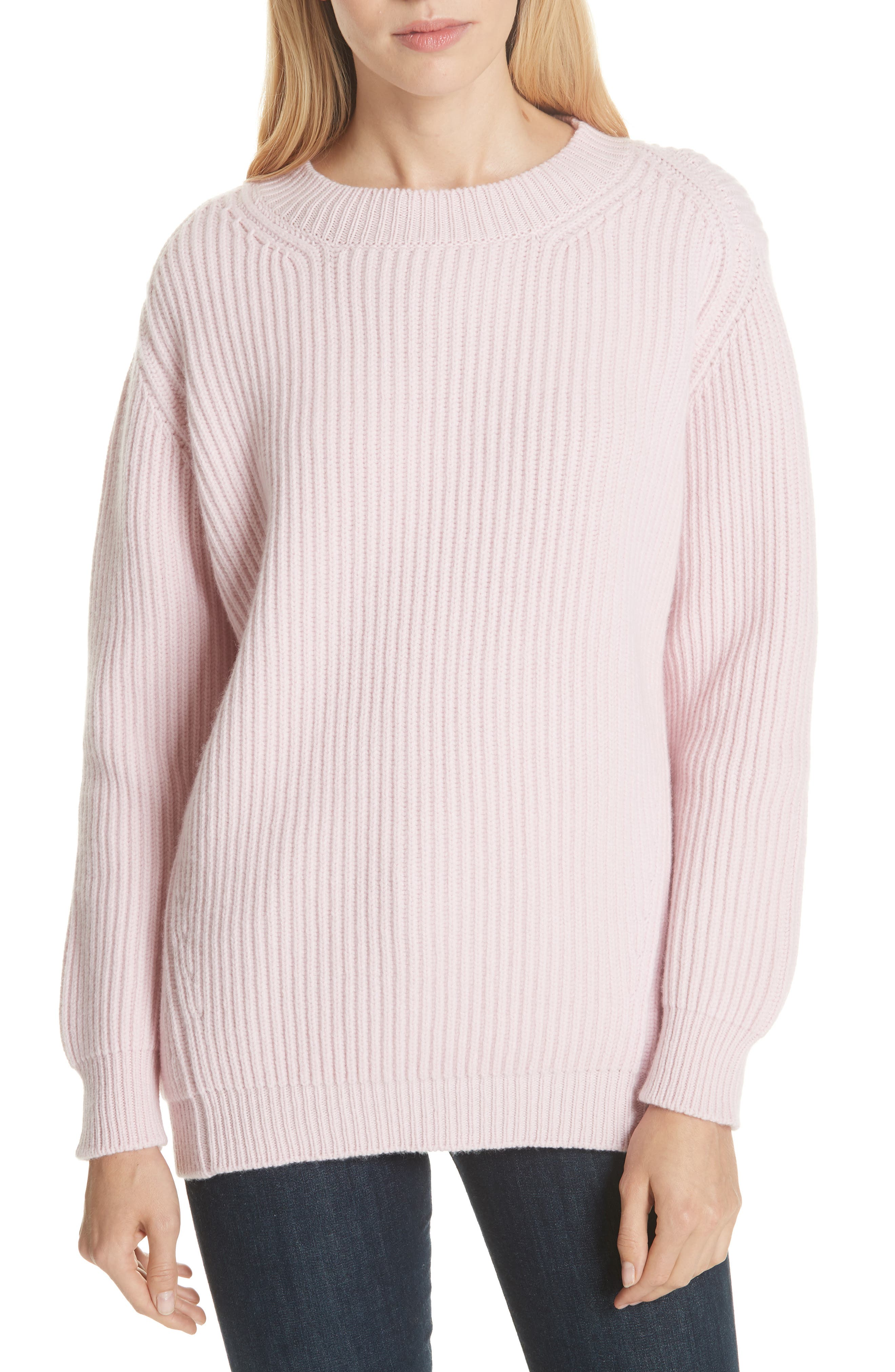 DAUGHTER Inver Ribbed Wool & Cashmere Sweater in Delicato
