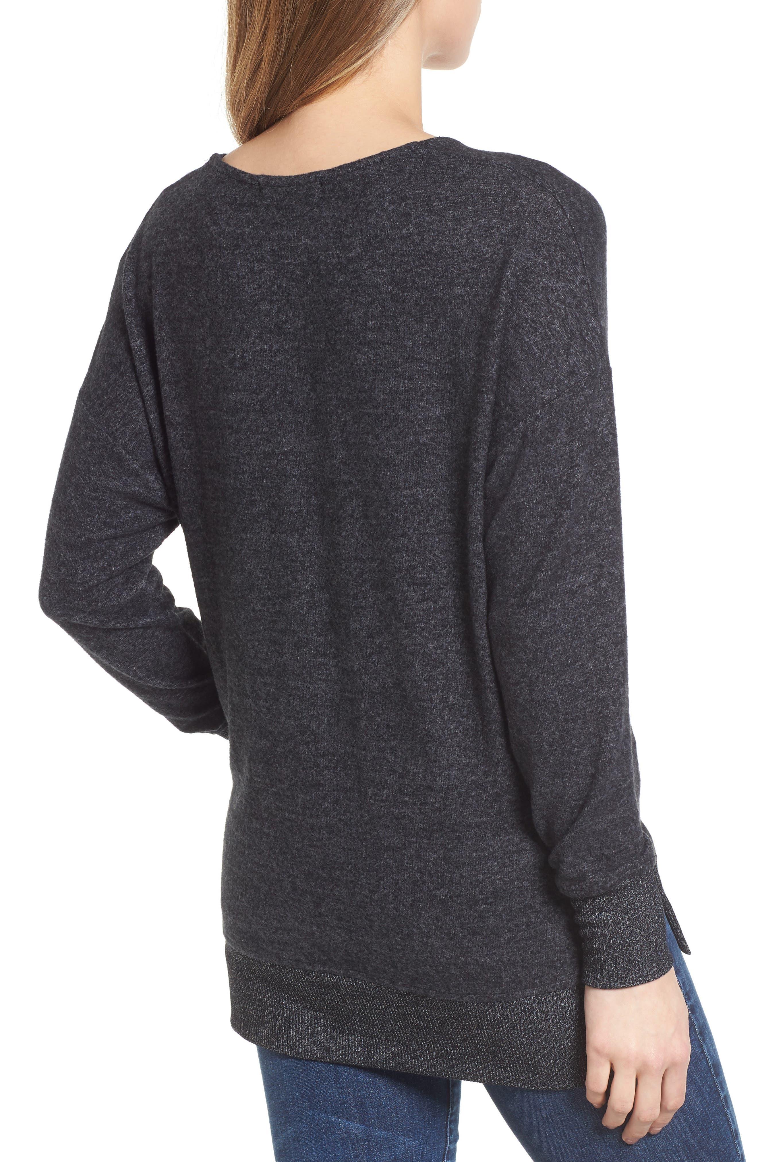Cozy Sweatshirt,                             Alternate thumbnail 2, color,                             BLACK
