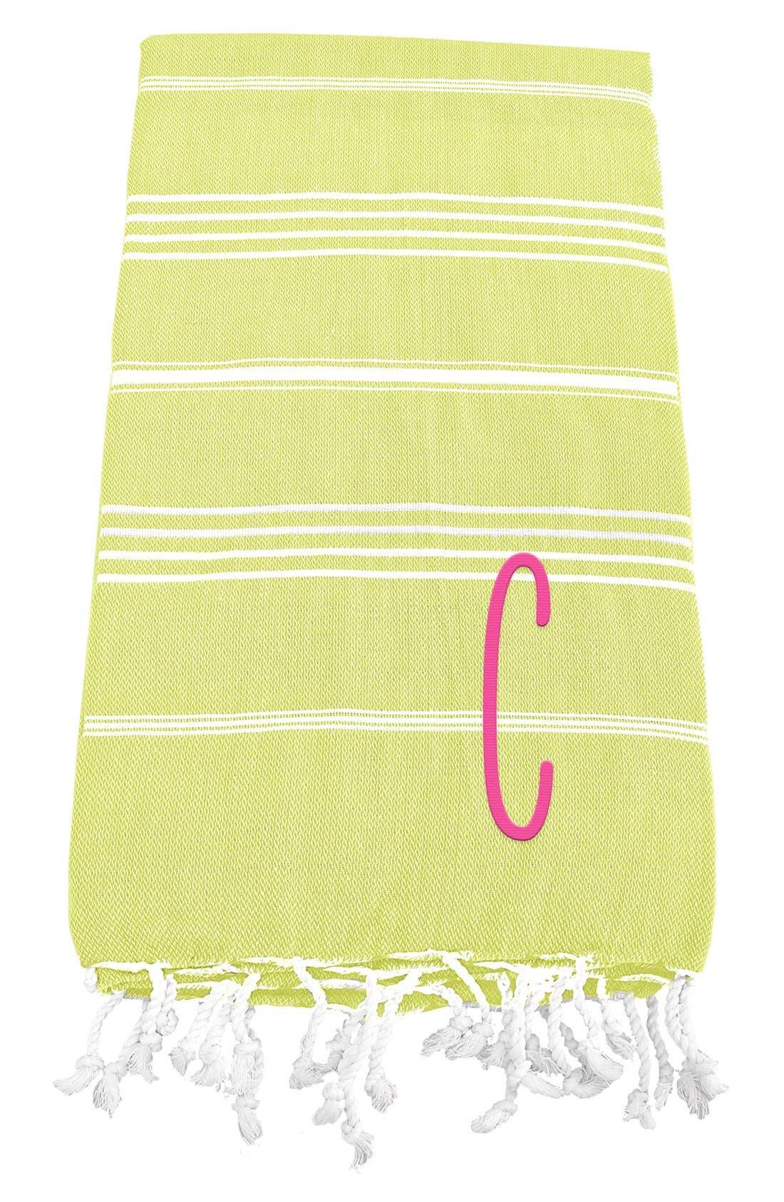 Monogram Turkish Cotton Towel,                             Main thumbnail 32, color,