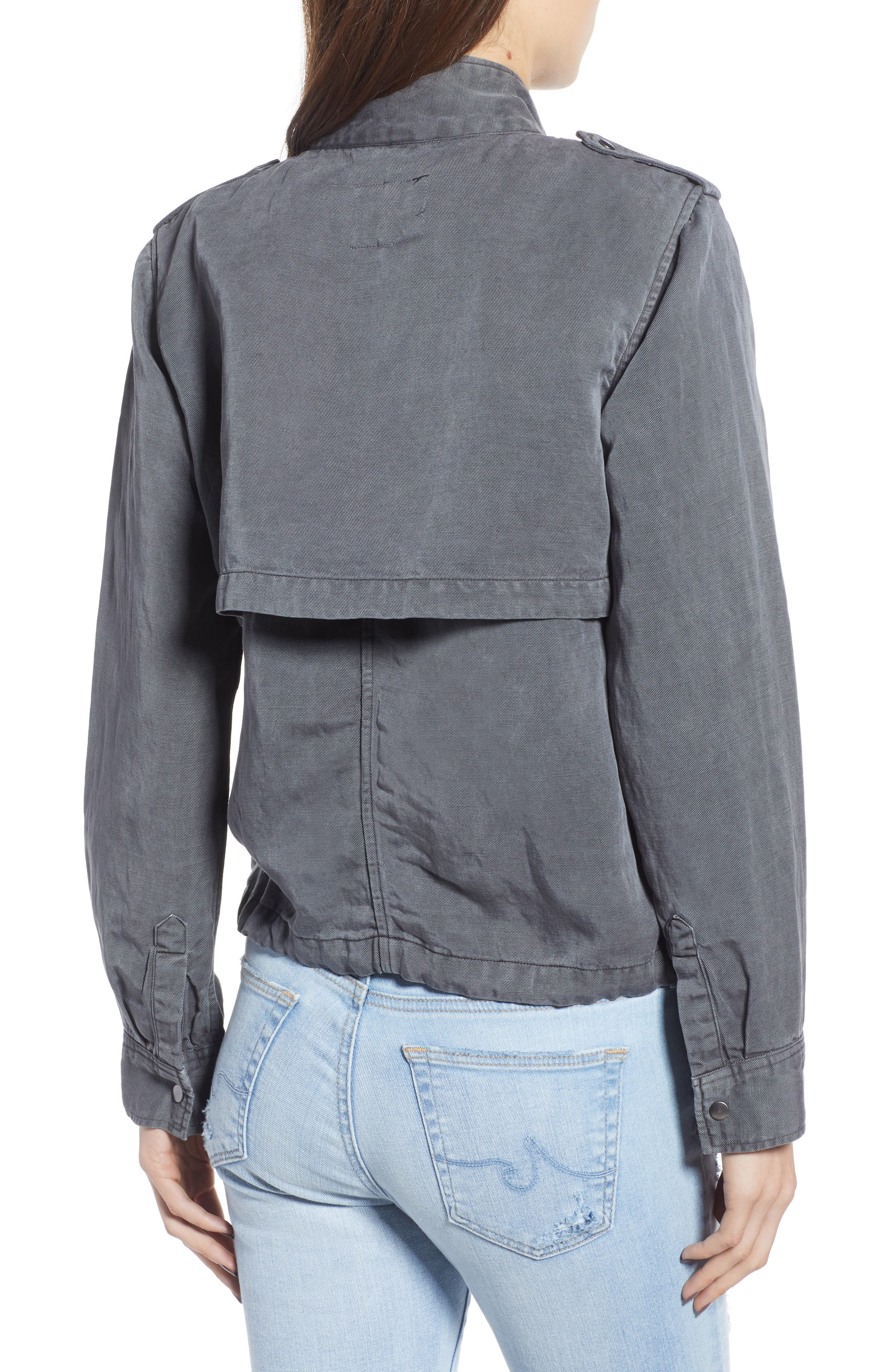 Collins Military Jacket,                             Alternate thumbnail 2, color,                             LIGHT CHARCOAL