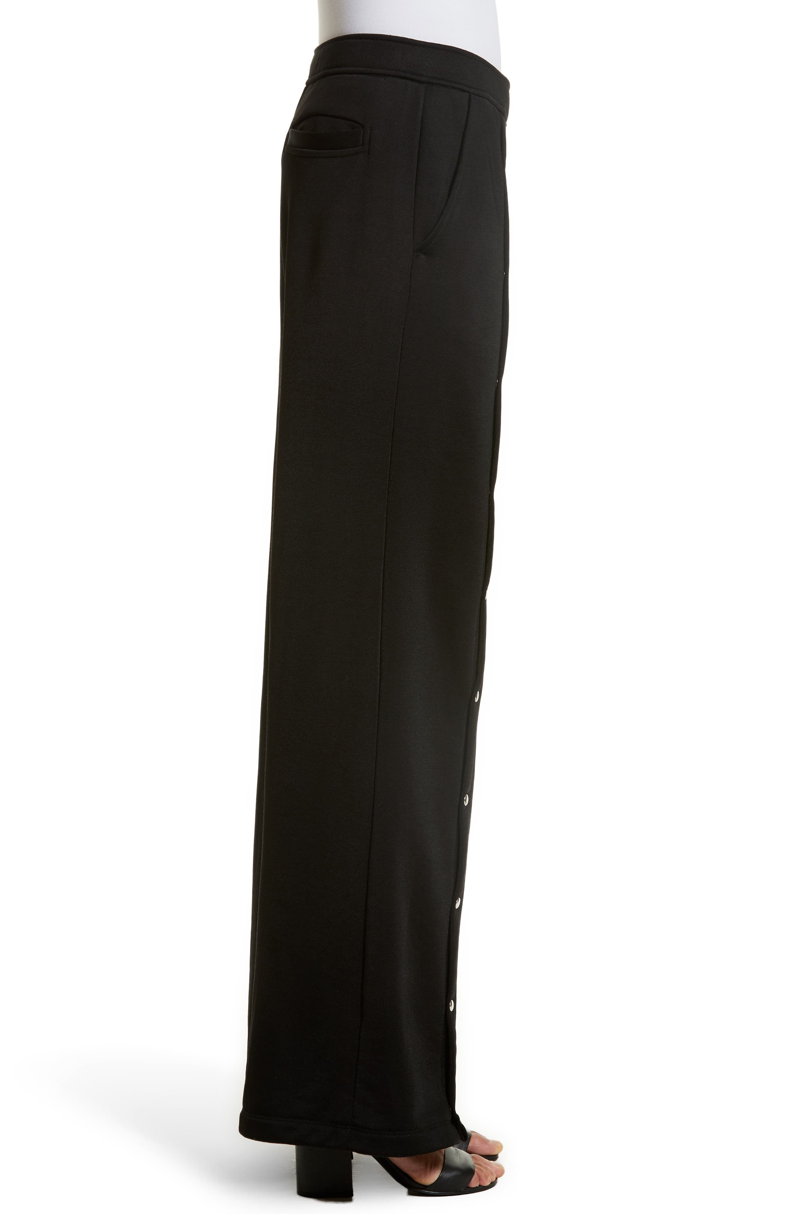 French Terry Wide Leg Pants,                             Alternate thumbnail 3, color,