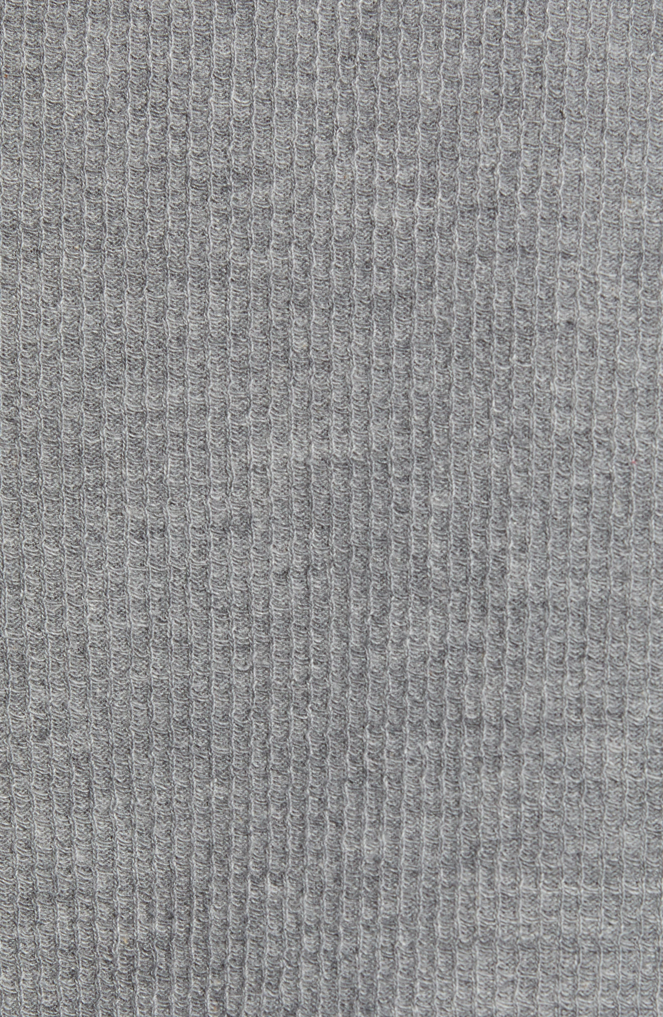 Textor Quarter Zip Thermal T-Shirt,                             Alternate thumbnail 5, color,                             GREY