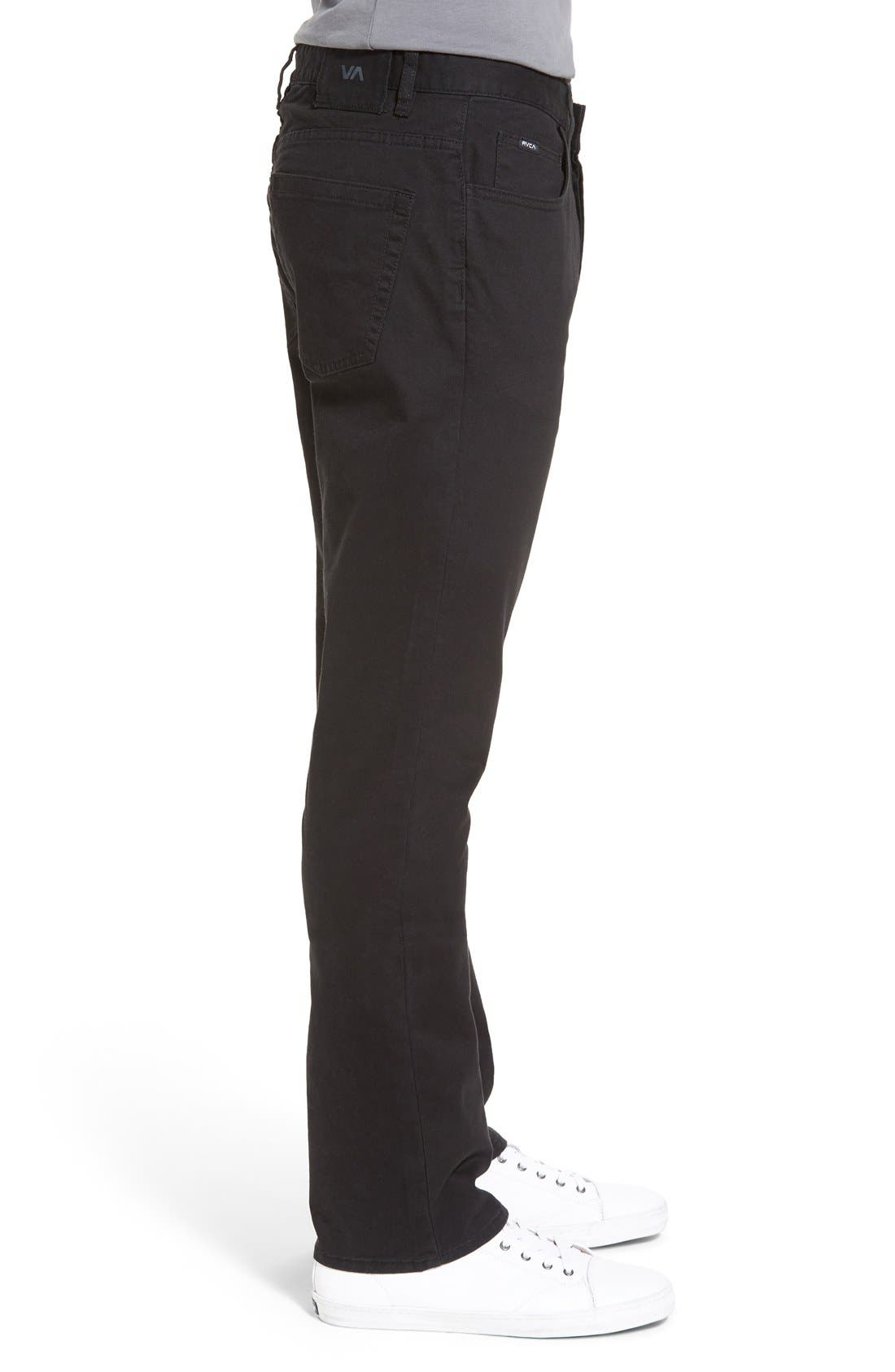 'Stay RVCA' Slim Straight Pants,                             Alternate thumbnail 2, color,                             001