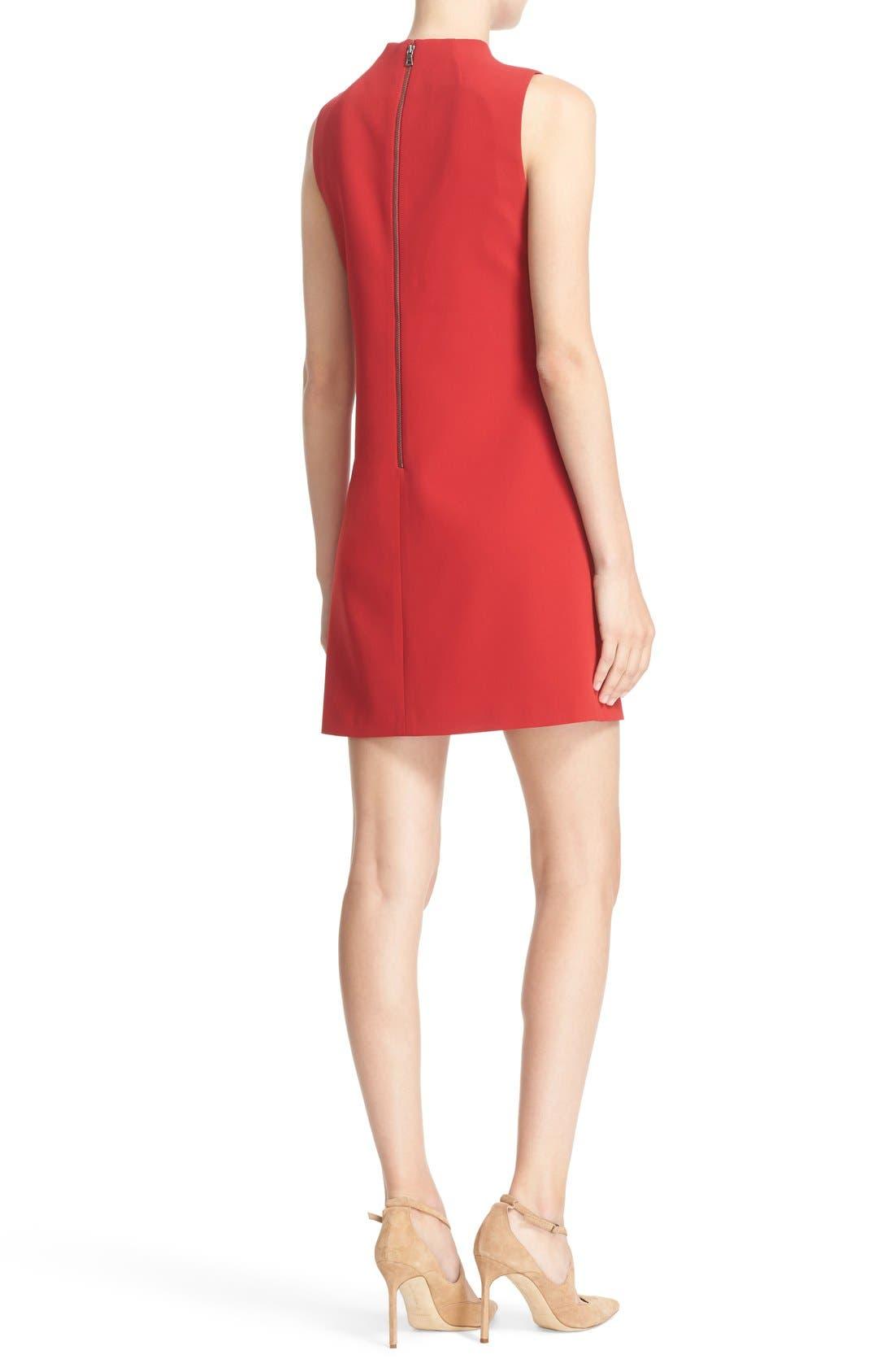 ALICE + OLIVIA,                             'Coley' Mock Neck A-Line Dress,                             Alternate thumbnail 2, color,                             623