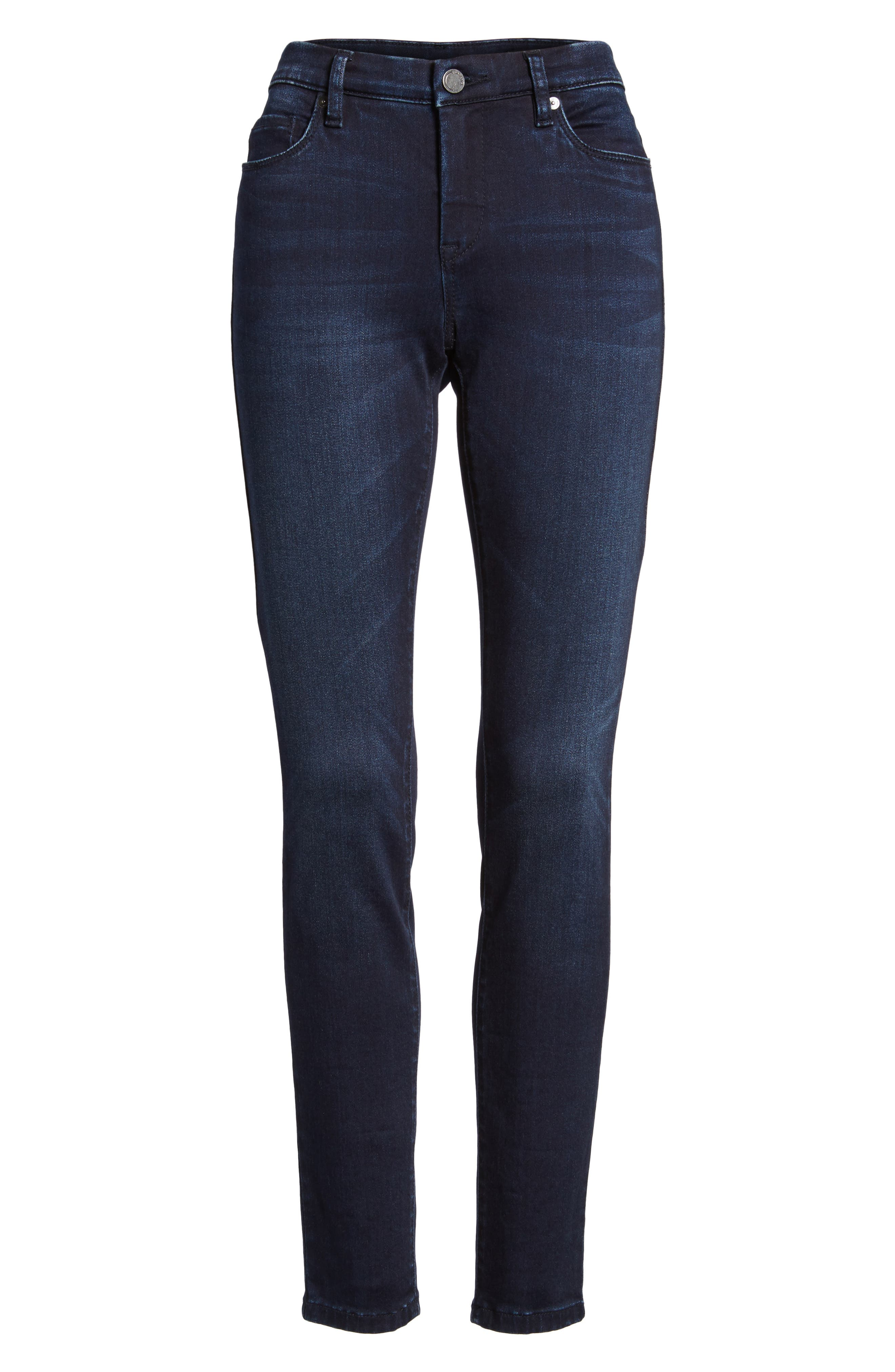 Stretch Skinny Jeans,                             Alternate thumbnail 6, color,                             401