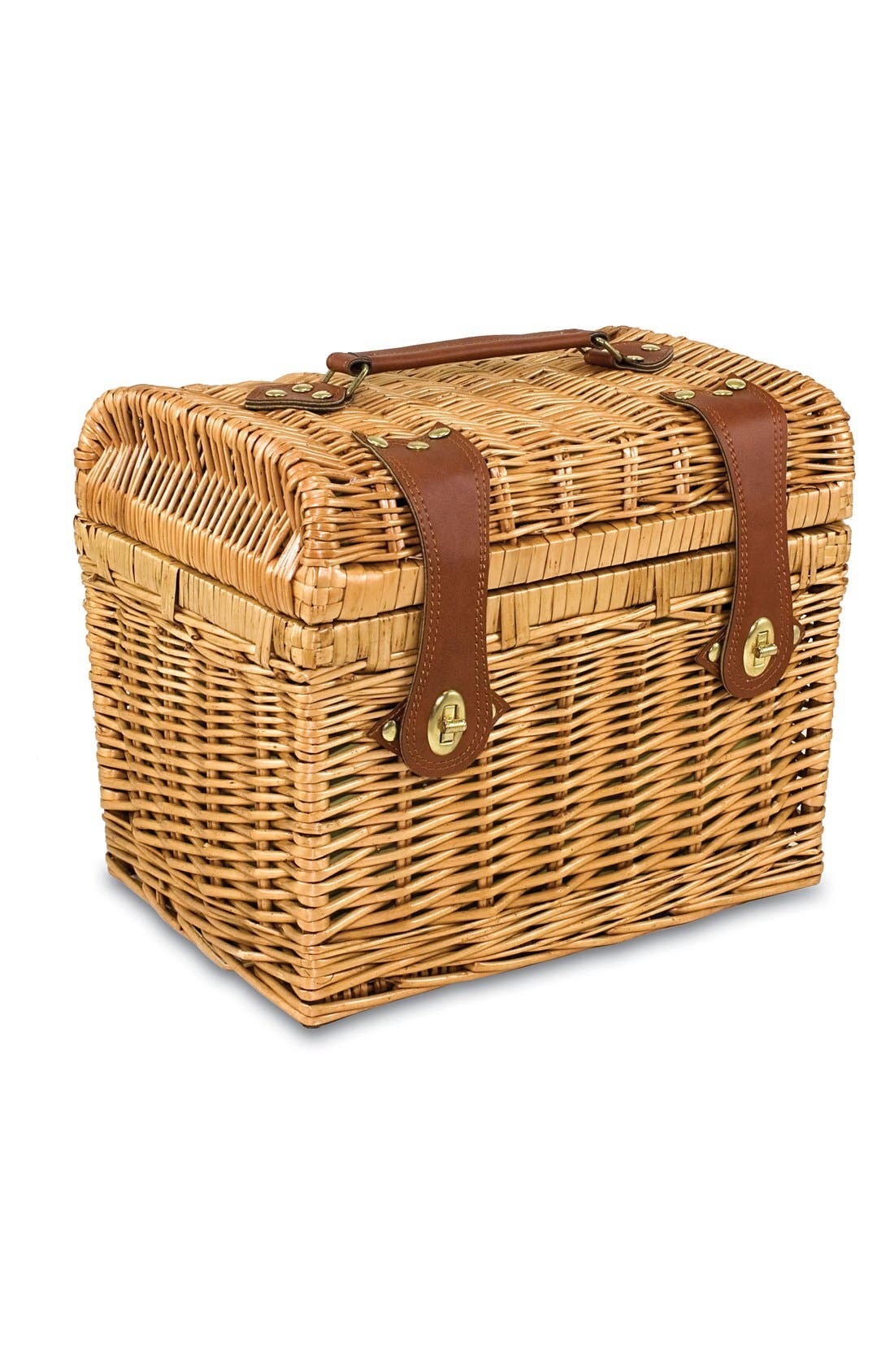 'Napa' Wicker Picnic Basket,                             Alternate thumbnail 3, color,                             200