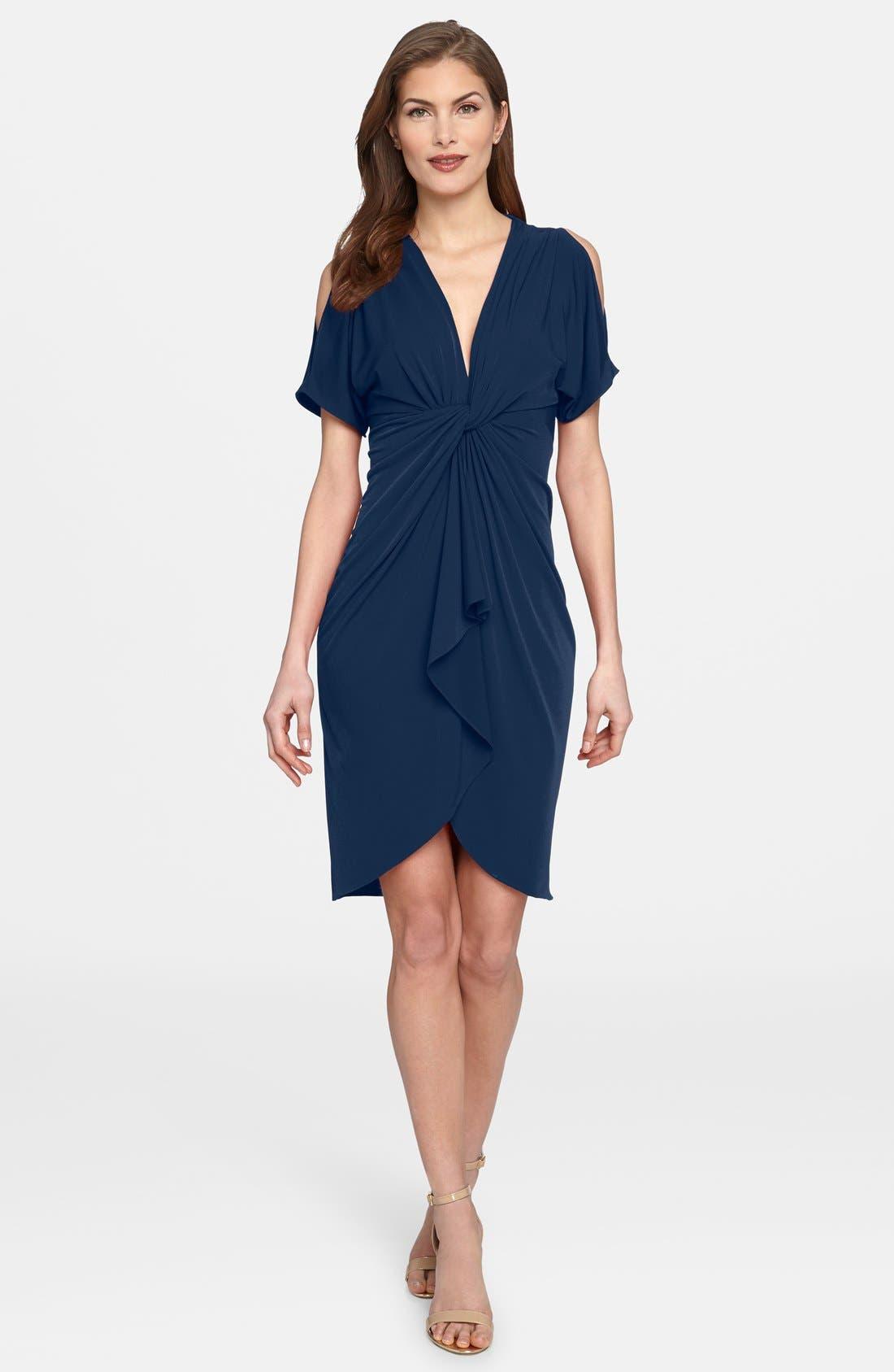 'Emily' Cold Shoulder Twist Front Dress,                             Main thumbnail 1, color,                             477