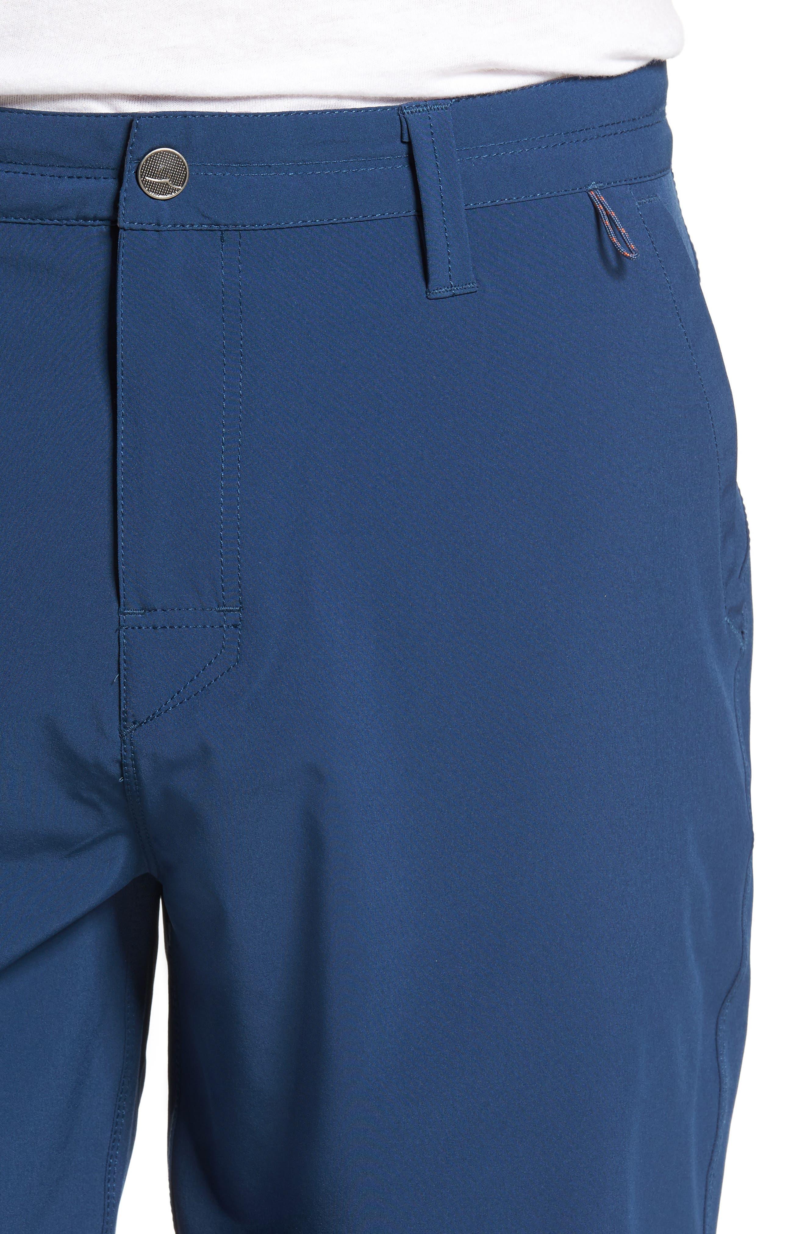Coast Regular Fit Hybrid Shorts,                             Alternate thumbnail 4, color,                             DEEP SEA