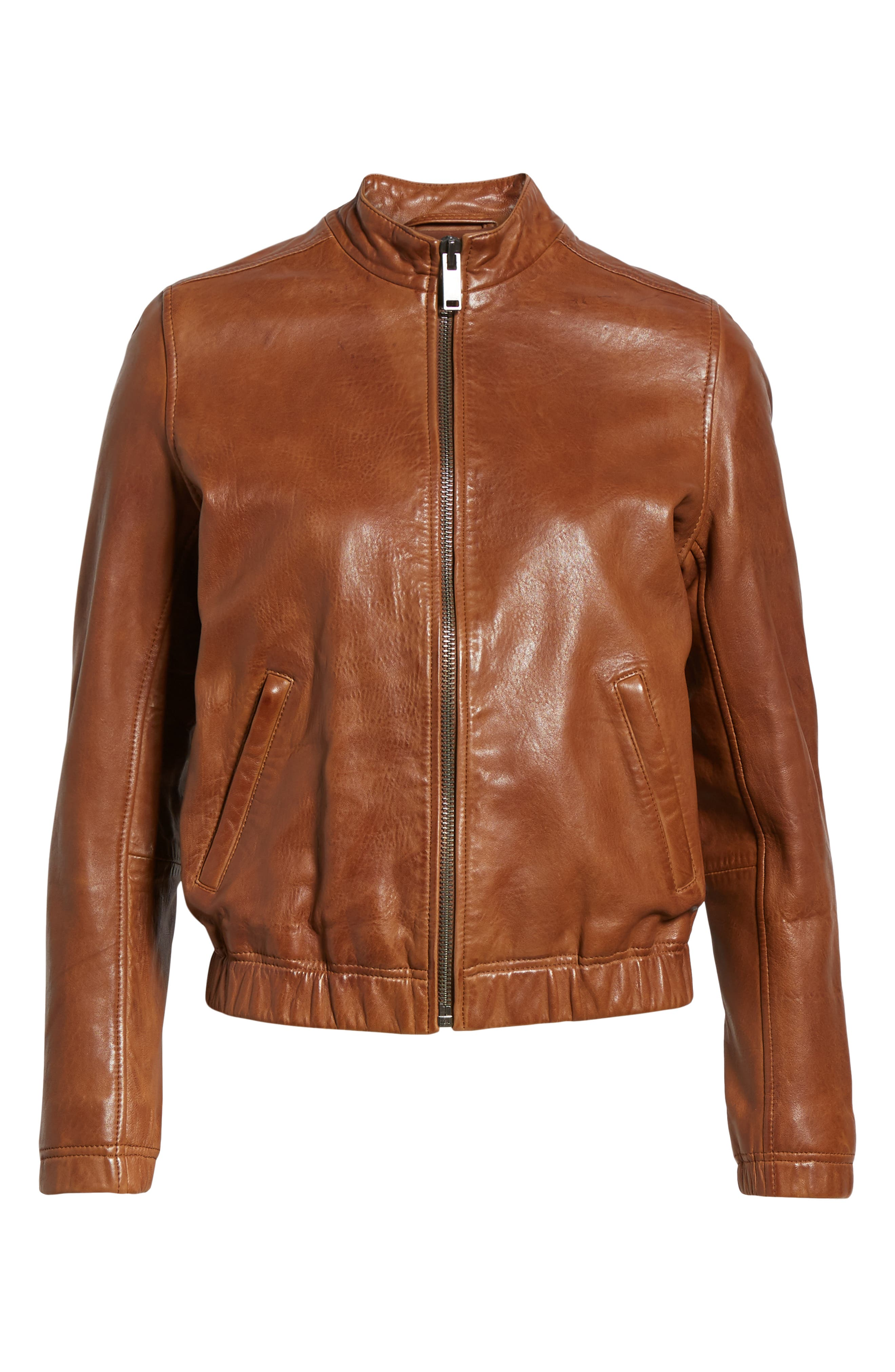 LUCKY BRAND,                             Ana Leather Jacket,                             Alternate thumbnail 6, color,                             210