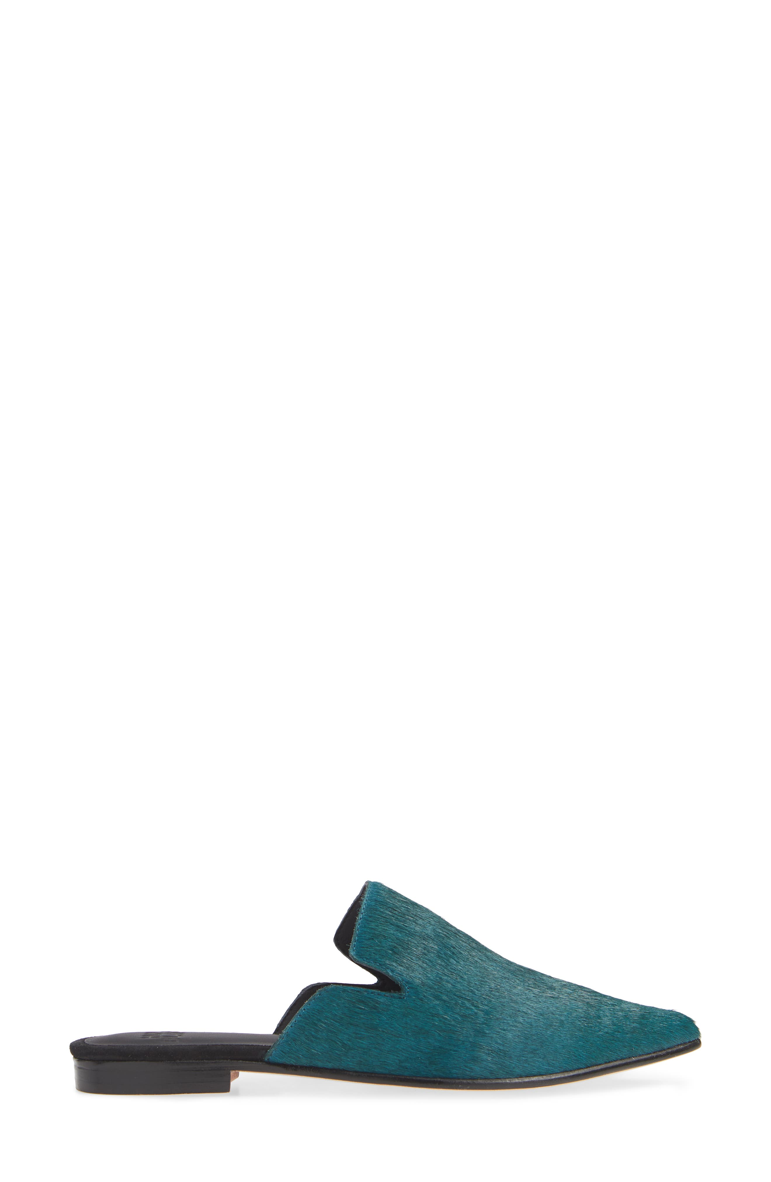 Ilaria Genuine Calf Hair Mule,                             Alternate thumbnail 3, color,                             PINE GREEN CALF HAIR