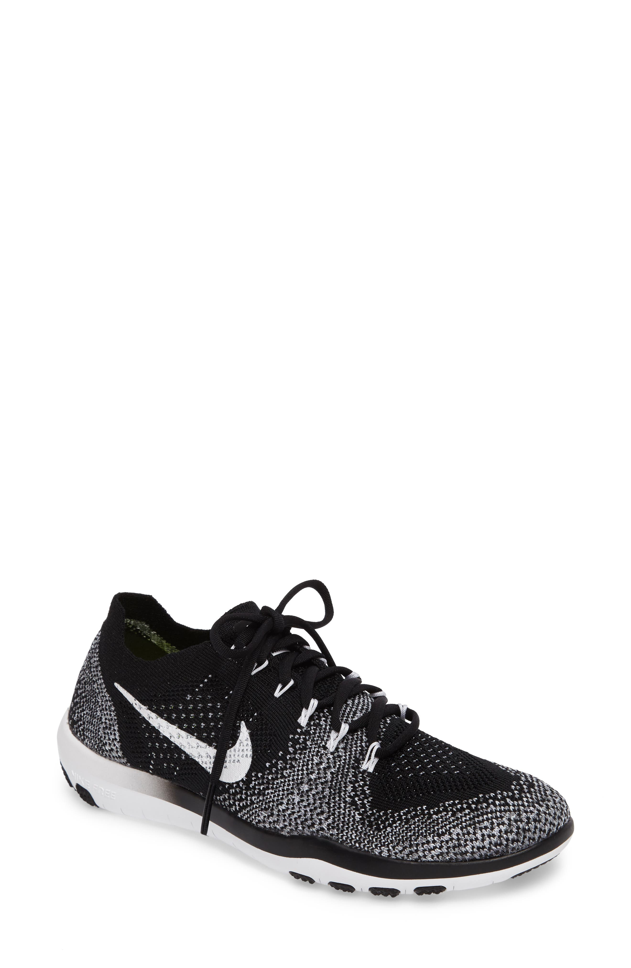 Free Focus Flyknit 2 Training Shoe,                         Main,                         color, 001