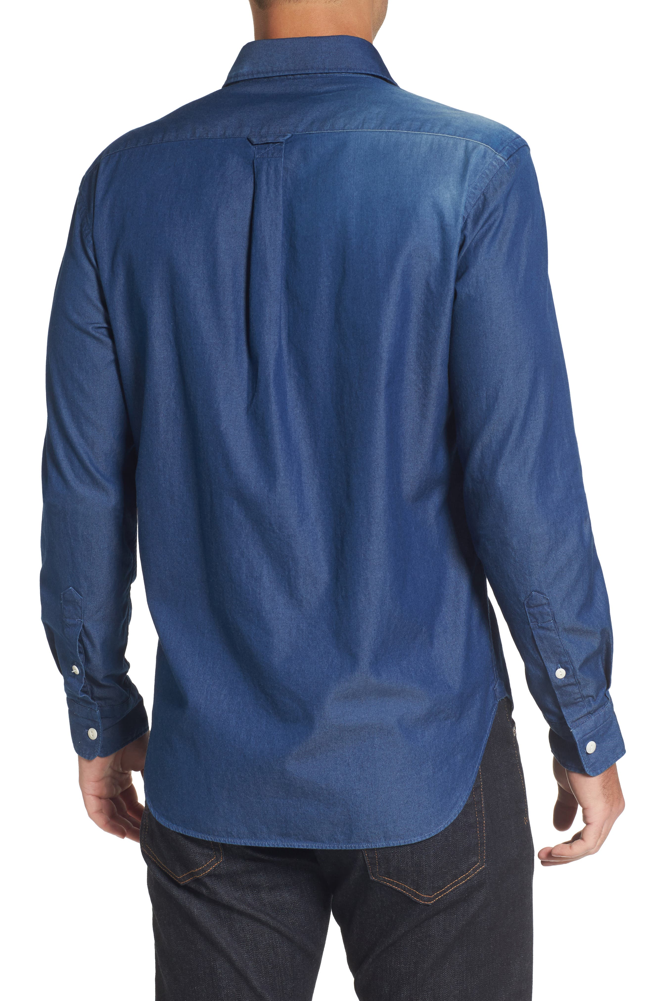 Italian Fade Wash Sport Shirt,                             Alternate thumbnail 2, color,                             400