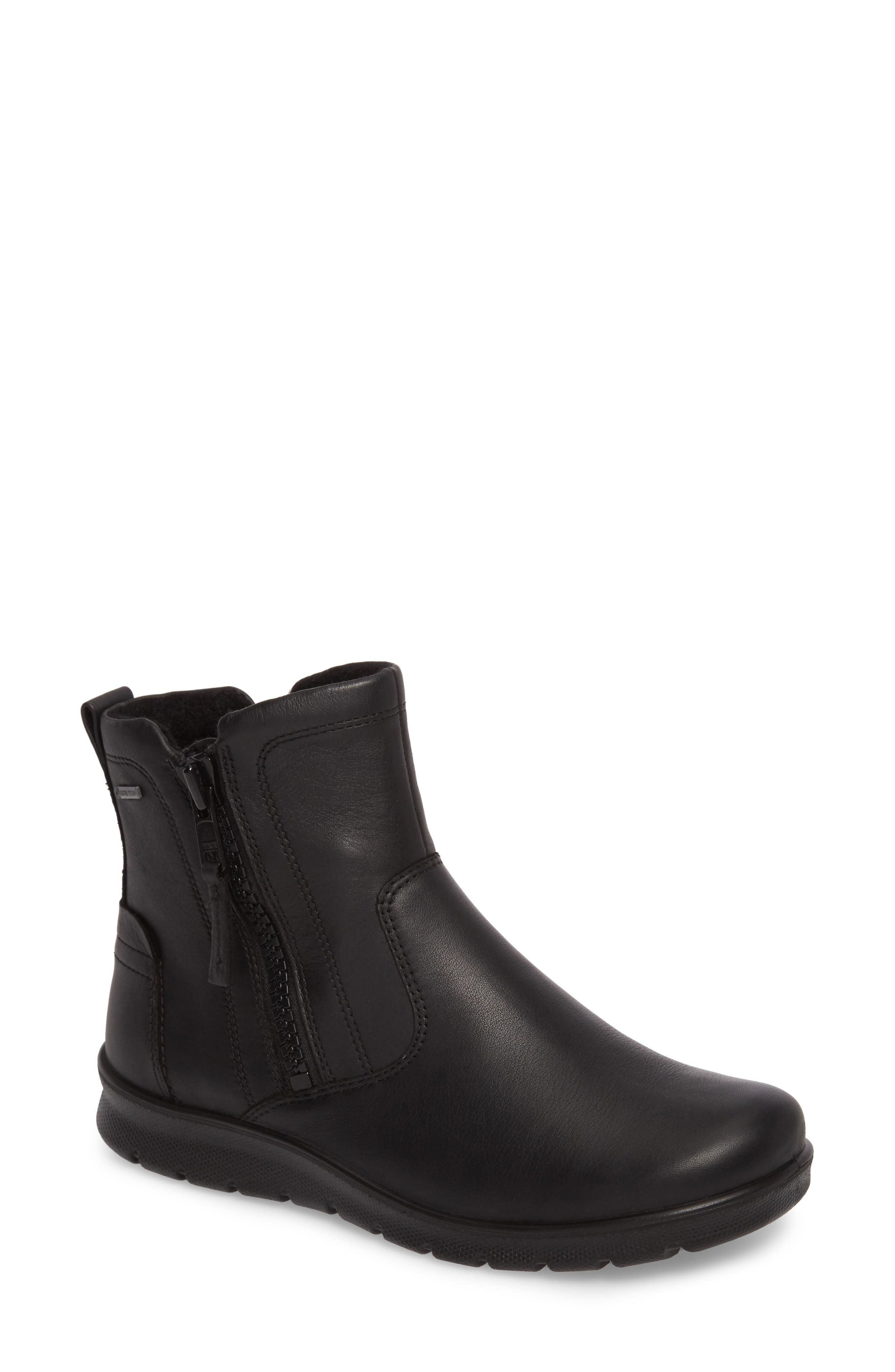 Babett Gore-Tex<sup>®</sup> Bootie,                             Main thumbnail 1, color,                             BLACK LEATHER