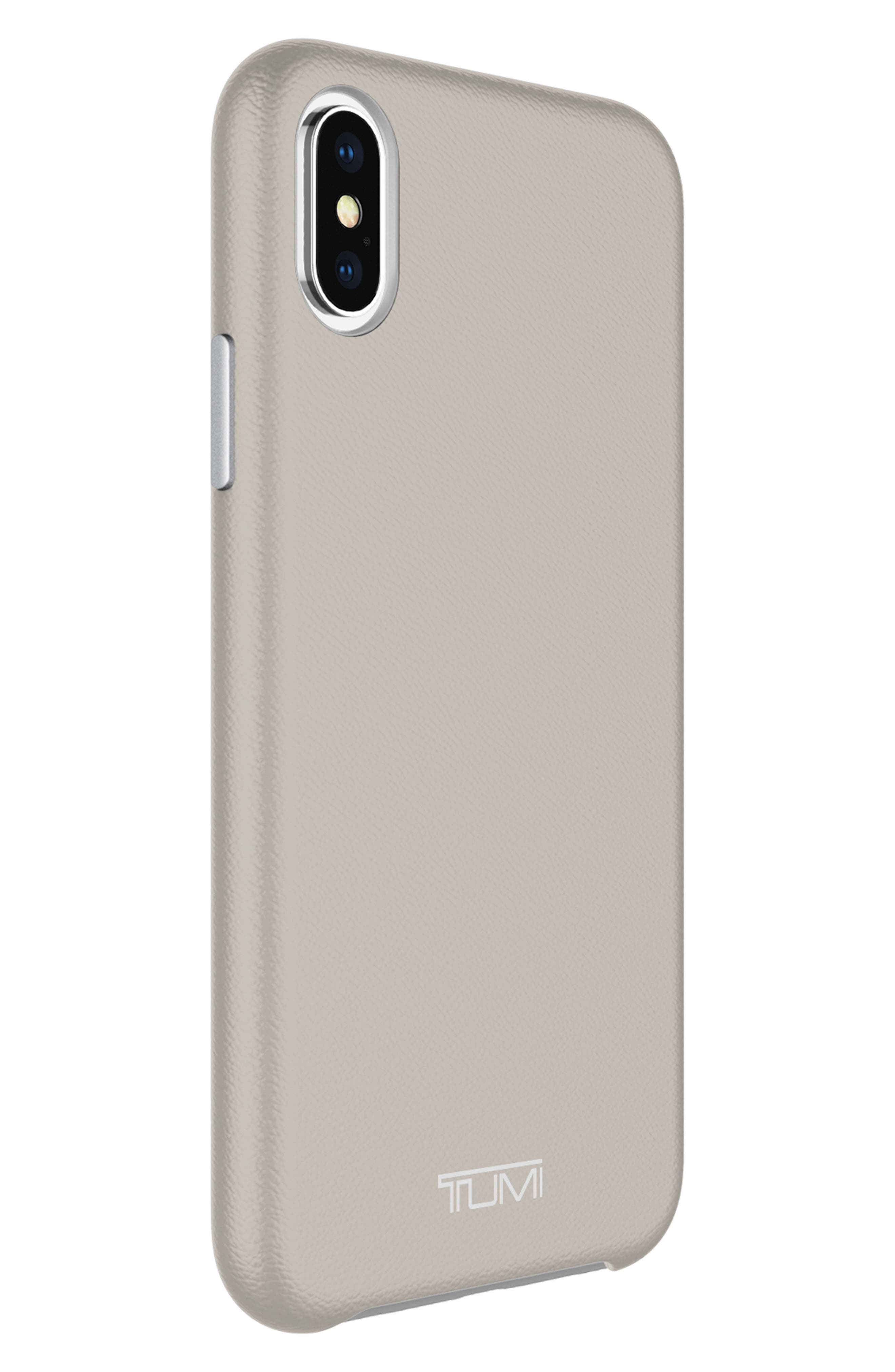 Leather iPhone X Case,                             Alternate thumbnail 8, color,