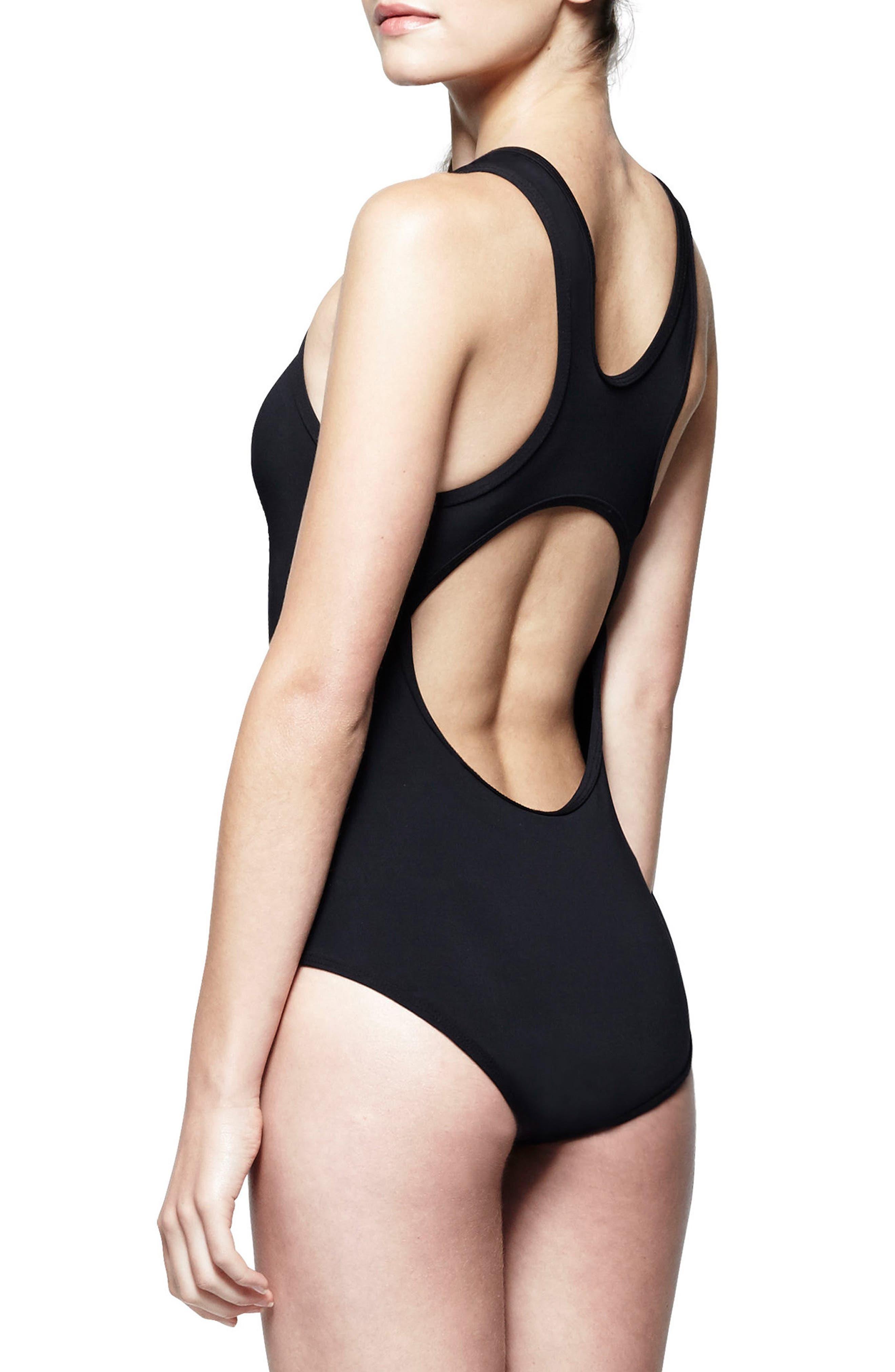 Saldana One-Piece Cutout Swimsuit,                             Alternate thumbnail 3, color,