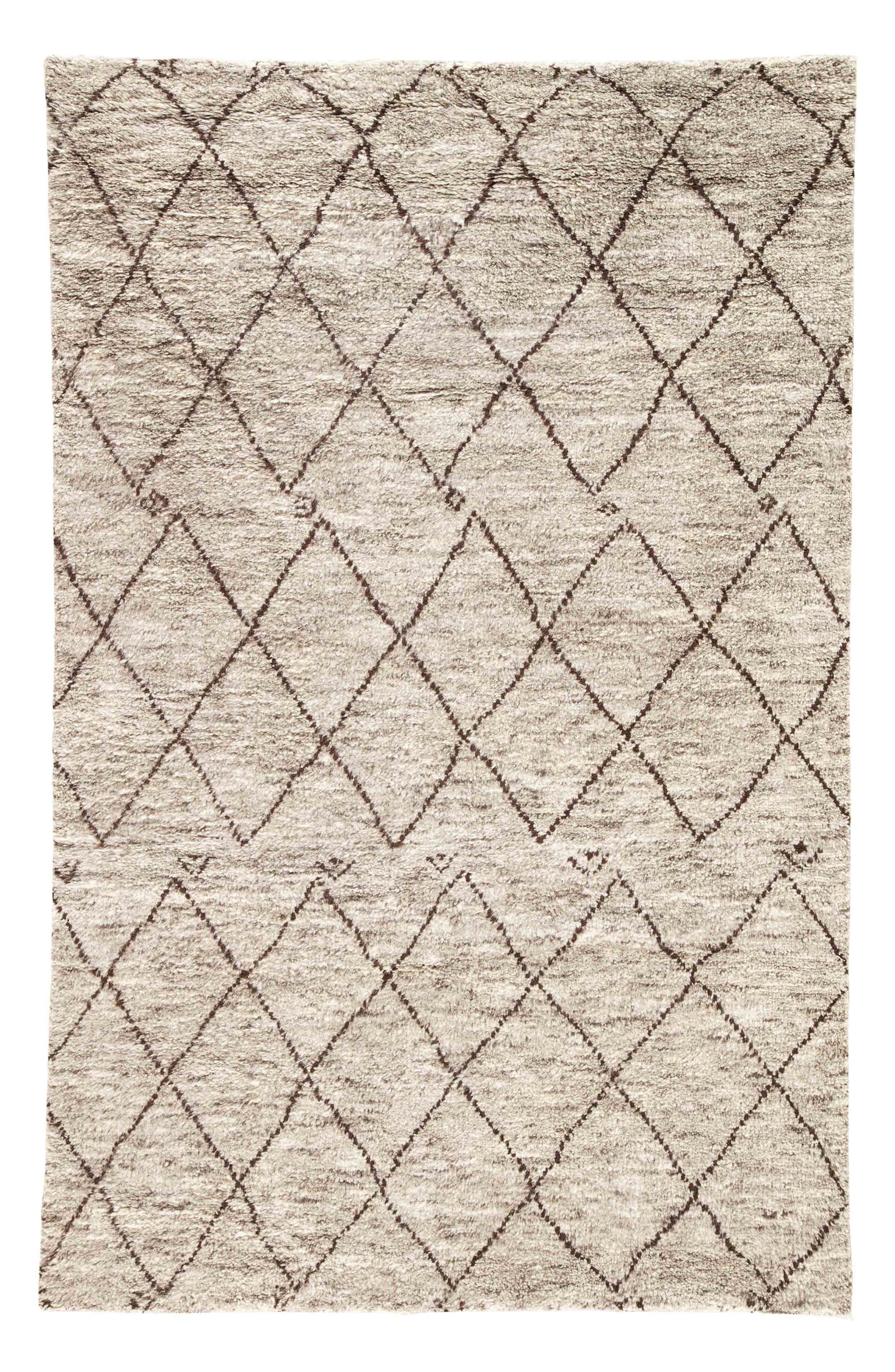 'Zola' Hand Knotted Wool Rug,                         Main,                         color, NATURAL/ BROWN