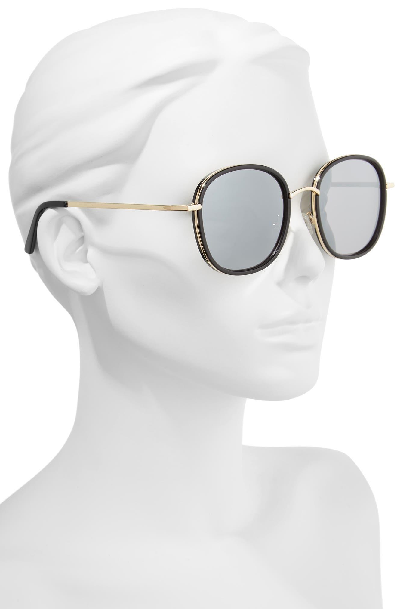 Layla 58mm Sunglasses,                             Alternate thumbnail 2, color,                             BLACK