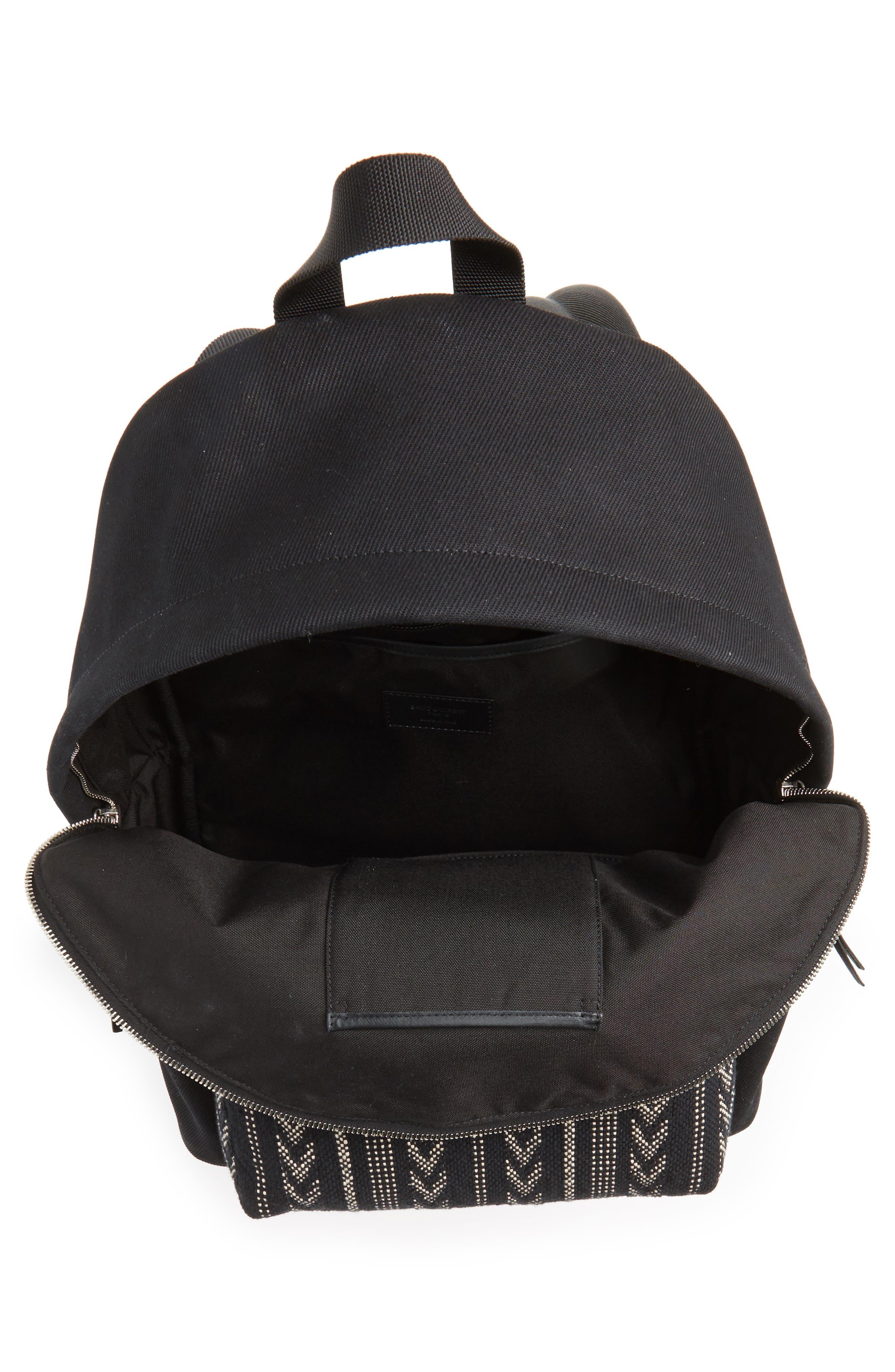 Pattern City Backpack,                             Alternate thumbnail 4, color,                             BLACK/ WHITE