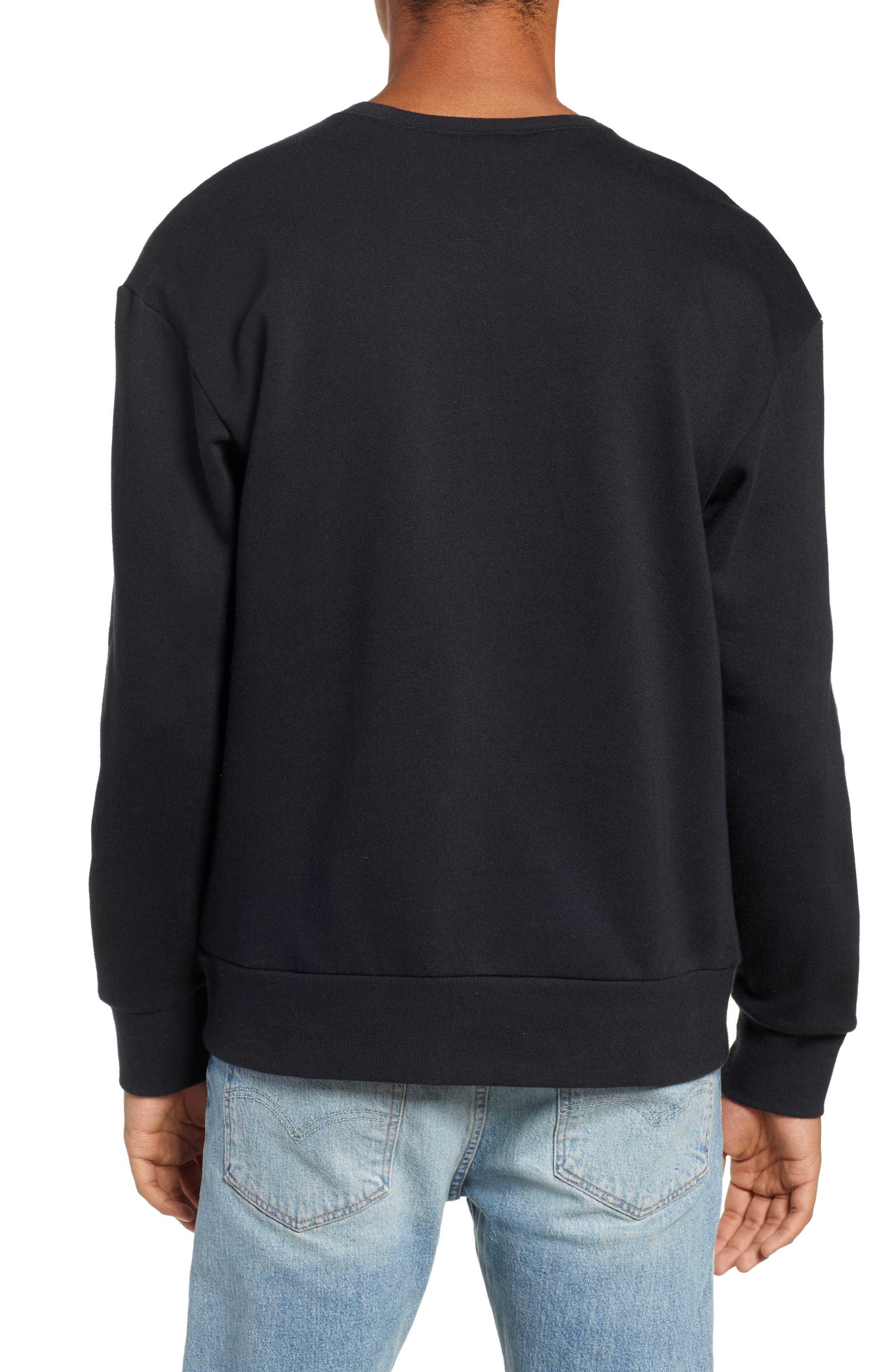 Bugasweat Crewneck Sweatshirt,                             Alternate thumbnail 2, color,                             BLACK
